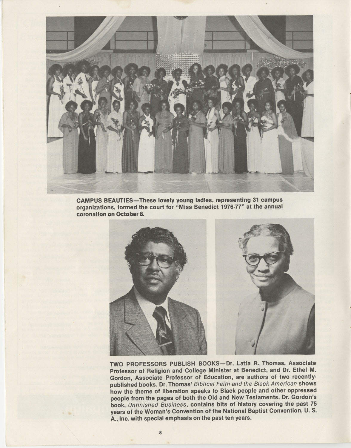 The Benedict Bulletin, October 1976, Page 8