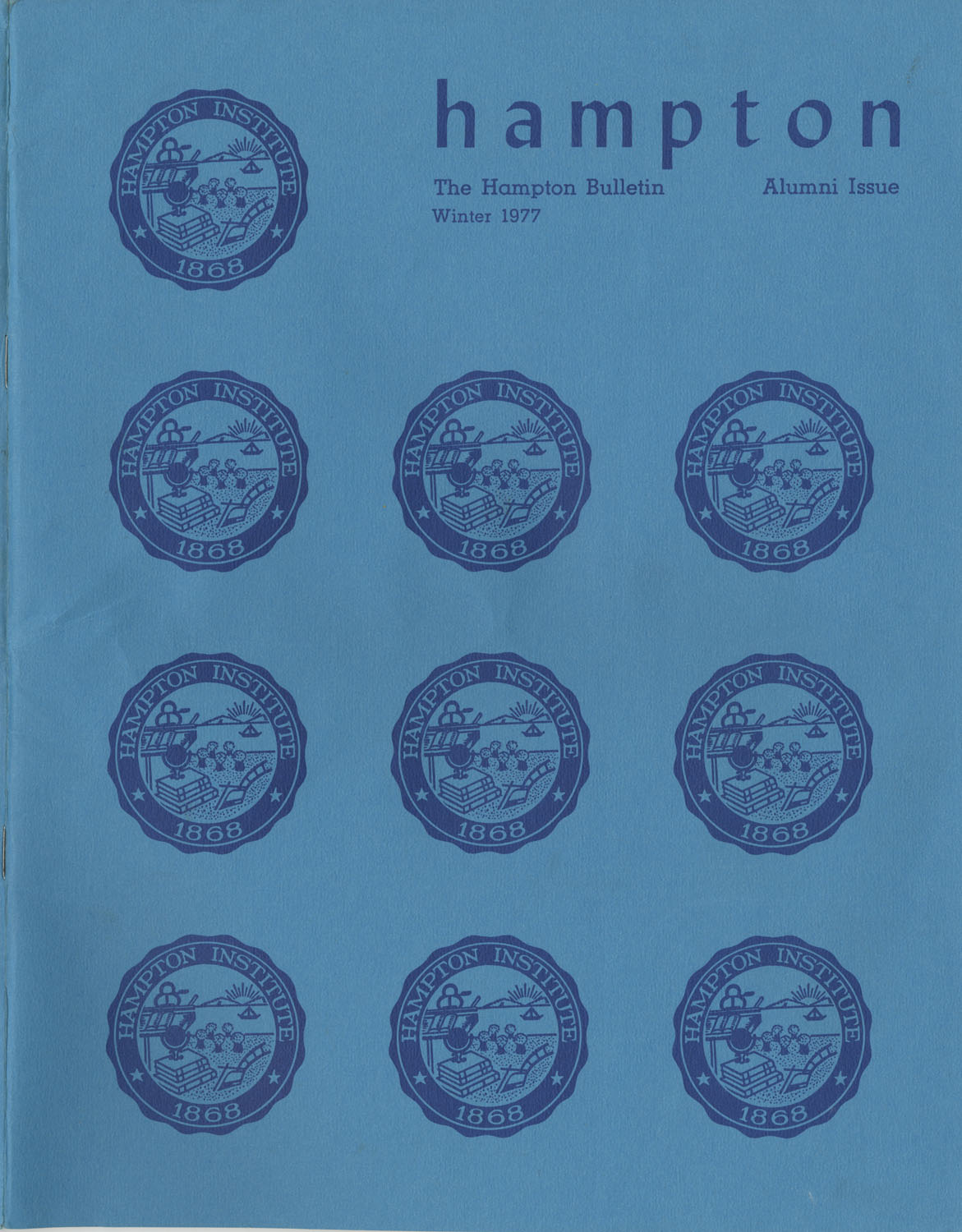 The Hampton Bulletin, Winter 1977, Front Cover