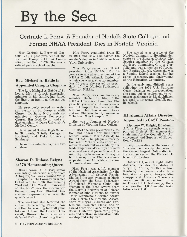 The Hampton Bulletin, Winter 1977, Page 2