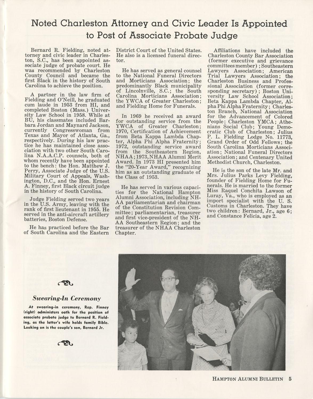 The Hampton Bulletin, Winter 1977, Page 5