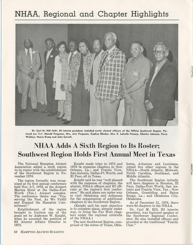 The Hampton Bulletin, Winter 1977, Page 10
