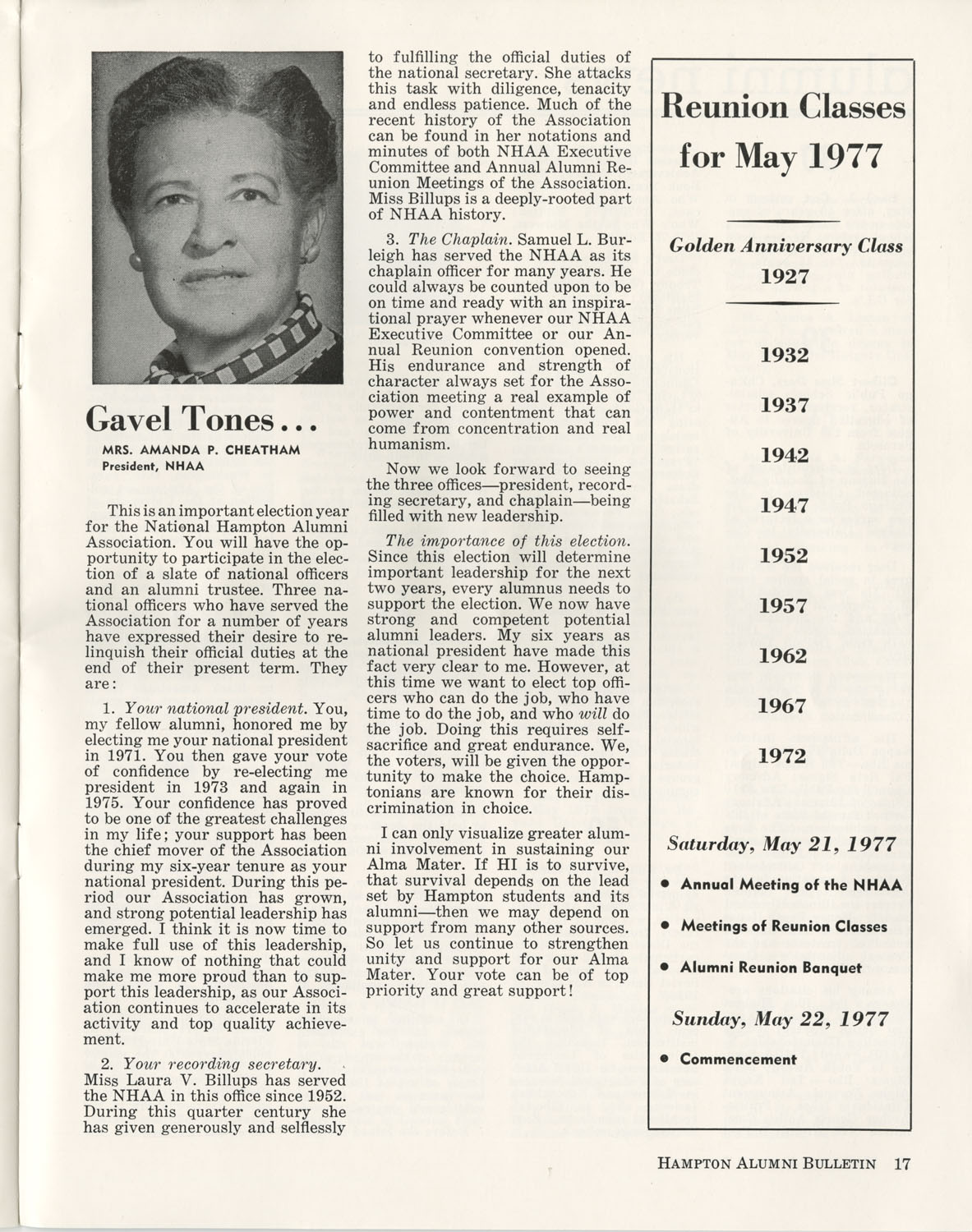 The Hampton Bulletin, Winter 1977, Page 17