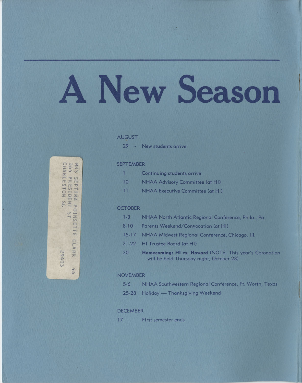 The Hampton Bulletin, Summer 1976, Back Cover Exterior