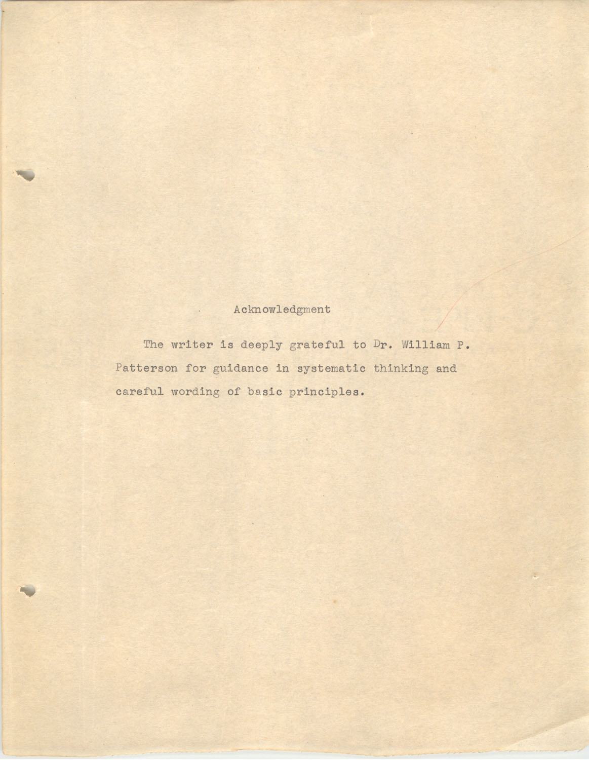 The Testing Program, 1945, Acknowledgment Page
