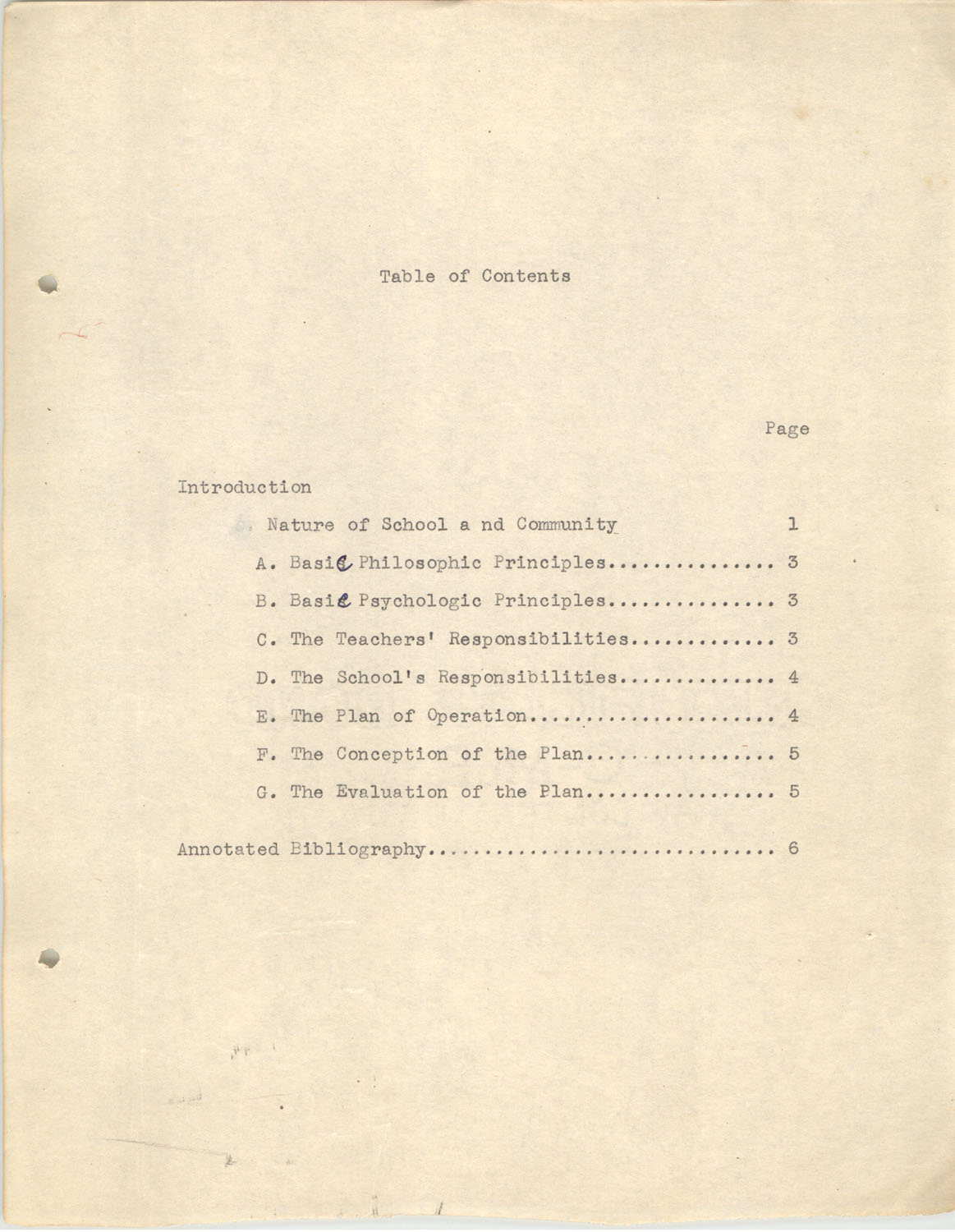 The Testing Program, 1945, Table of Contents