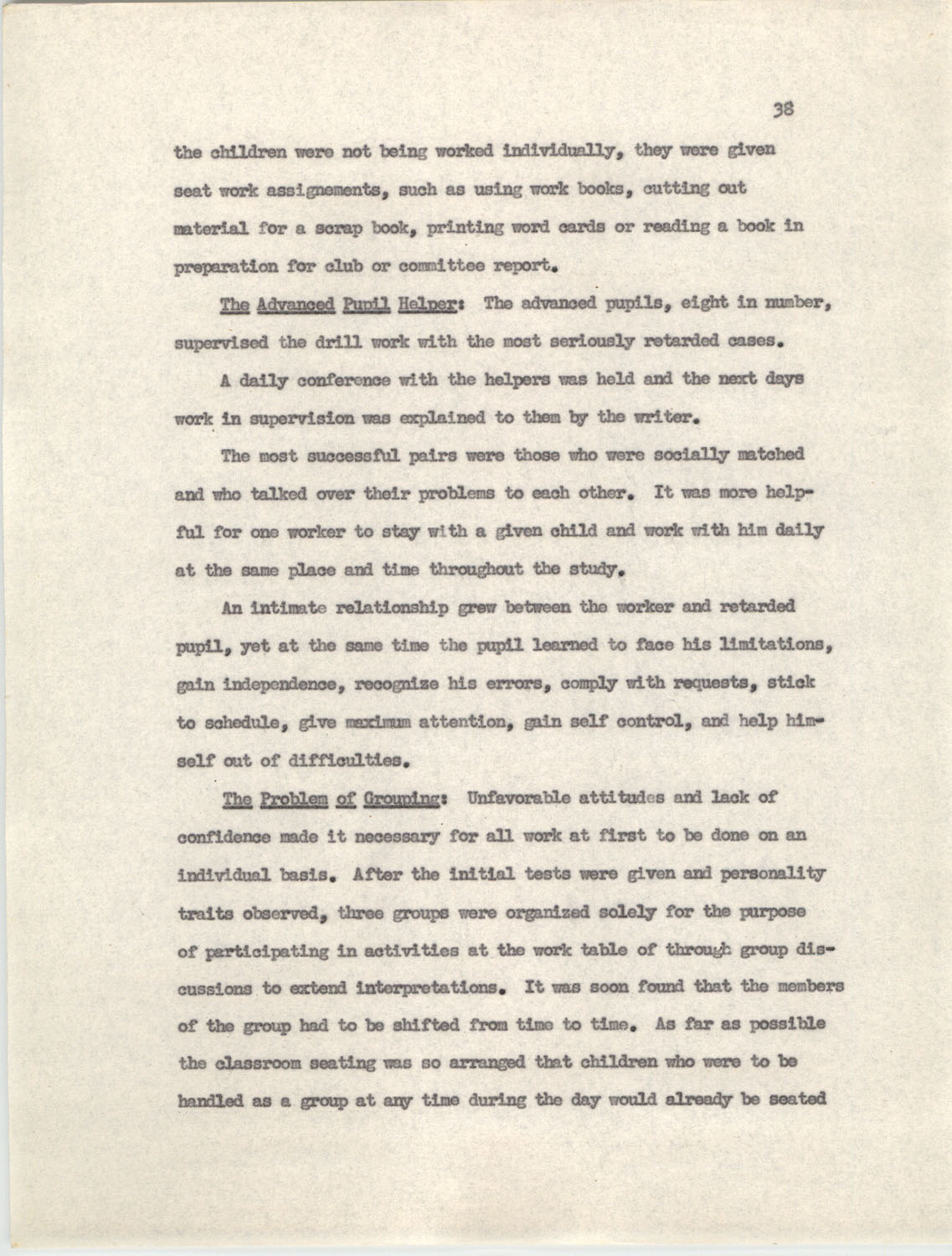 An Experiment in Individualizing Instruction in Reading in a Sixth Grade Class, 1946,  Page 38