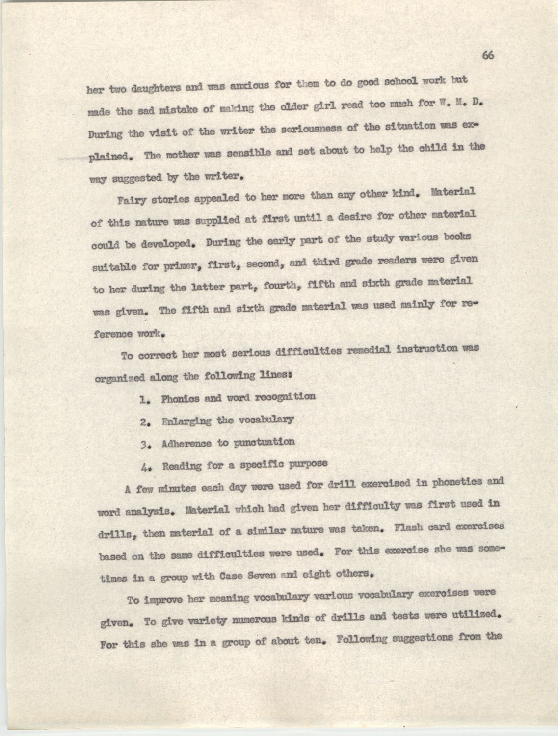 An Experiment in Individualizing Instruction in Reading in a Sixth Grade Class, 1946,  Page 66