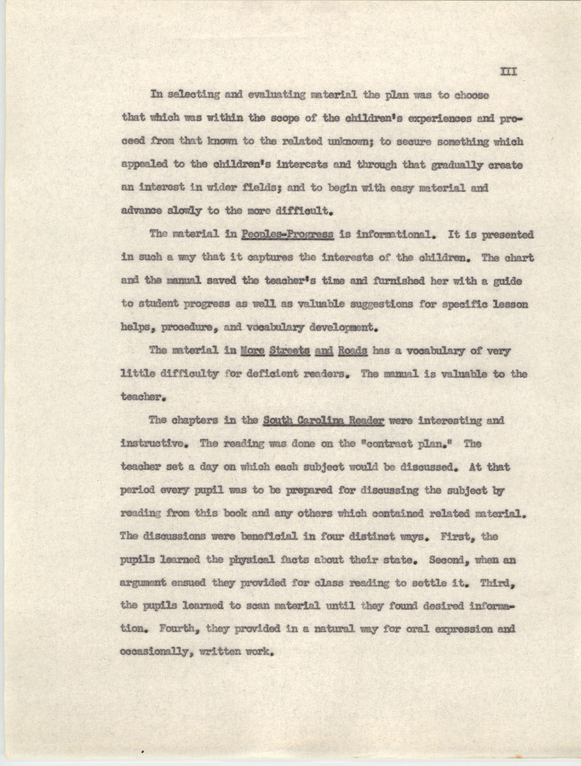 An Experiment in Individualizing Instruction in Reading in a Sixth Grade Class, 1946,  Appendix III