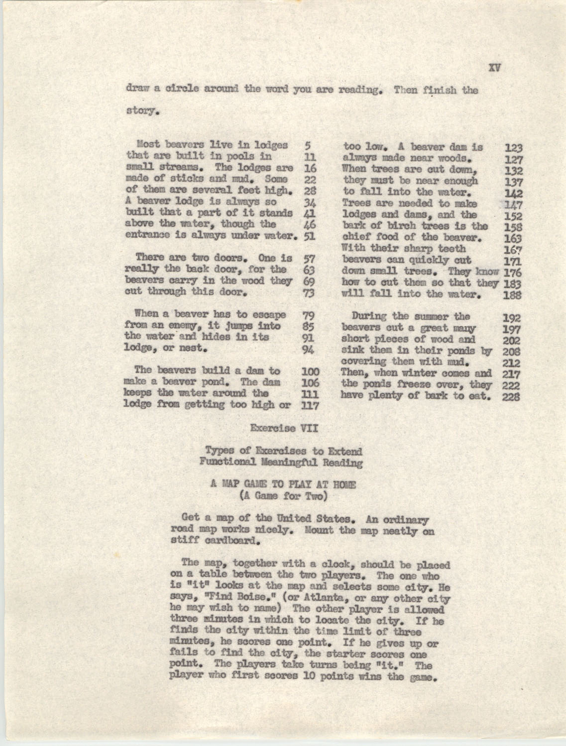 An Experiment in Individualizing Instruction in Reading in a Sixth Grade Class, 1946,  Appendix XV
