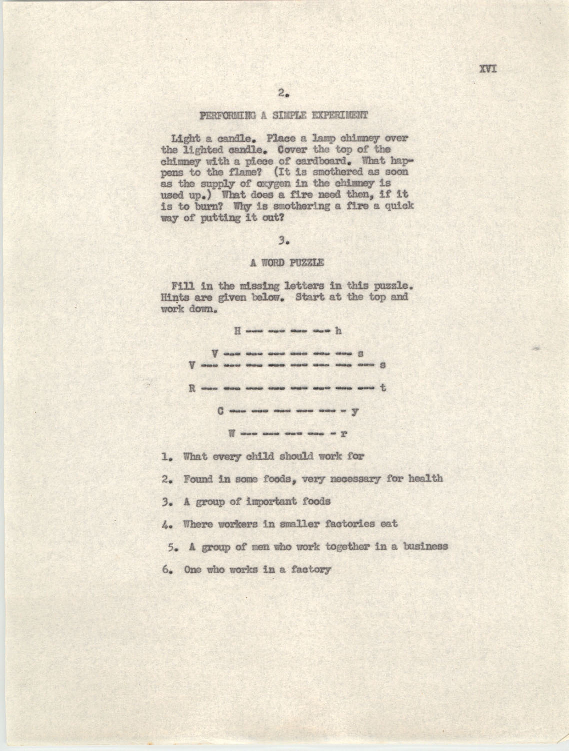 An Experiment in Individualizing Instruction in Reading in a Sixth Grade Class, 1946,  Appendix XVI