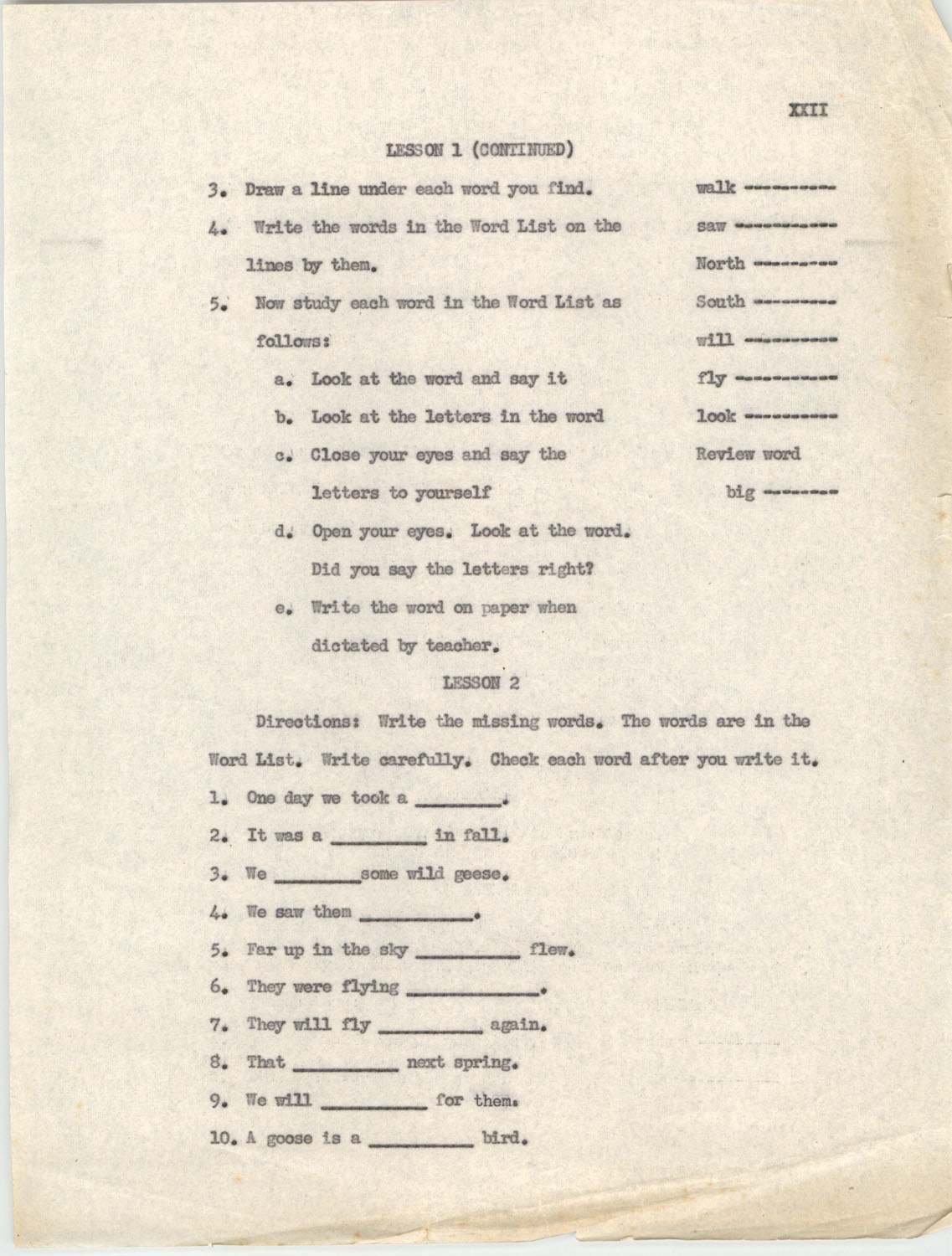 An Experiment in Individualizing Instruction in Reading in a Sixth Grade Class, 1946,  Appendix XXII
