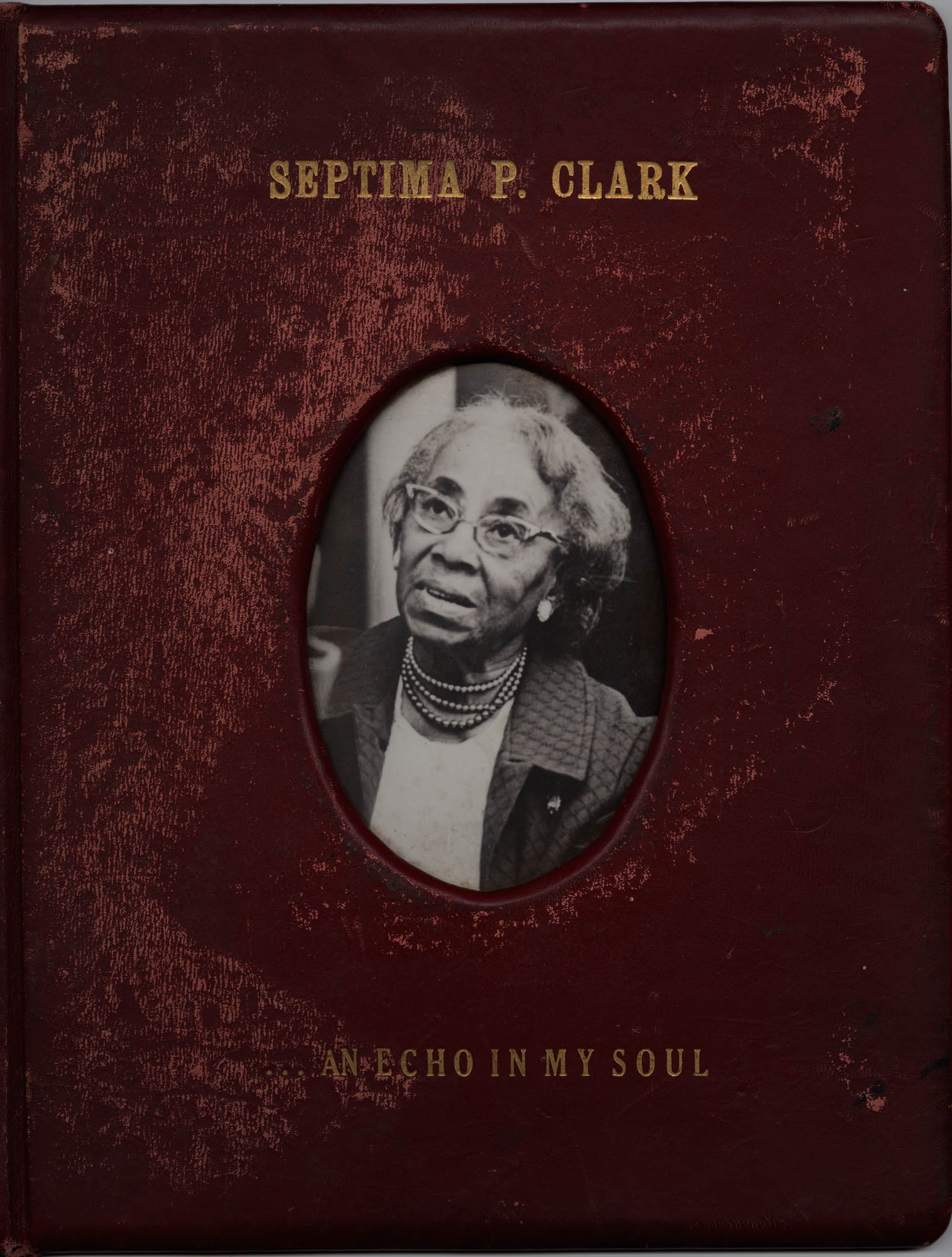 Septima P. Clark Scrapbook, Cover