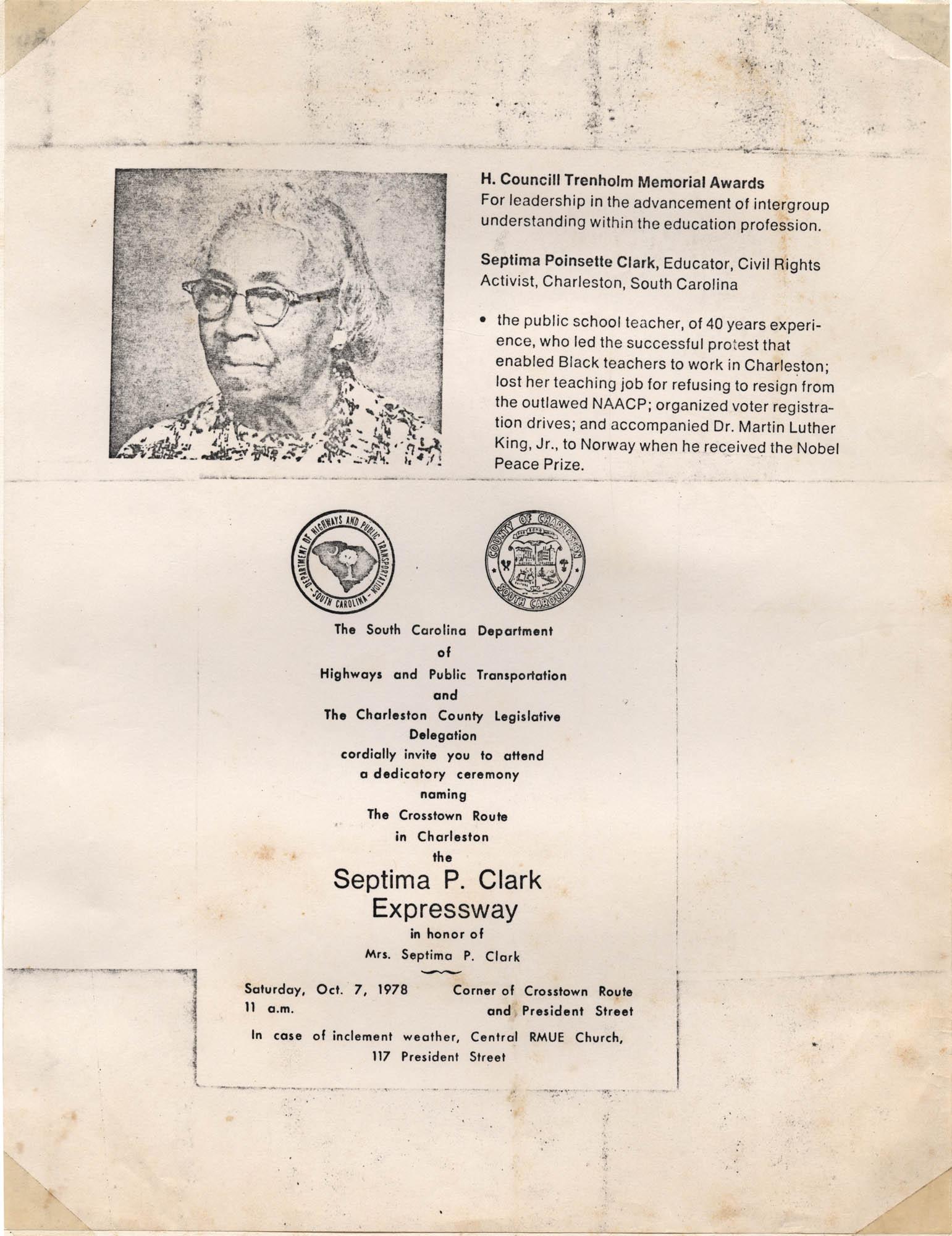 Septima P. Clark Scrapbook, Page 11
