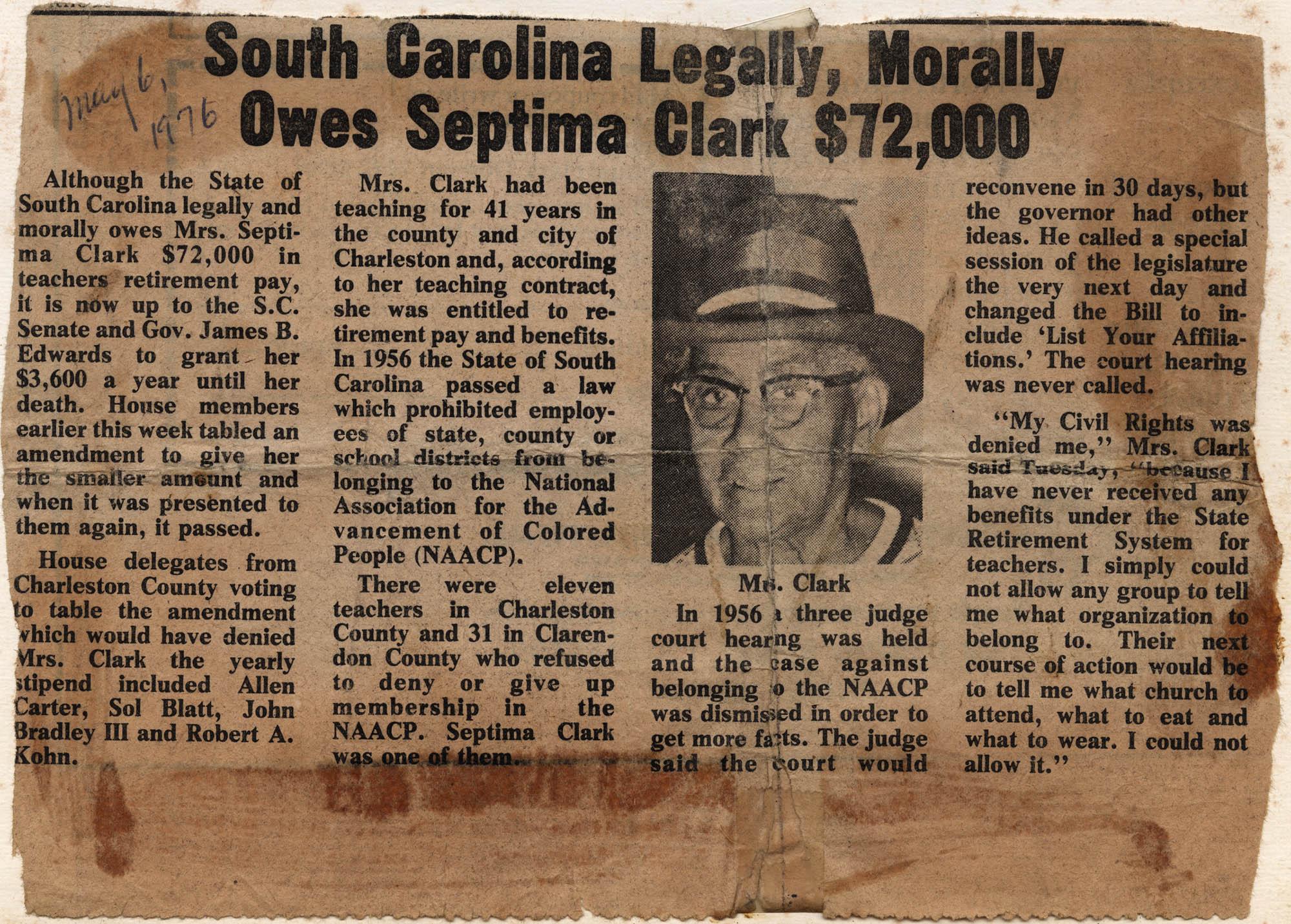Septima P. Clark Scrapbook, Page 13