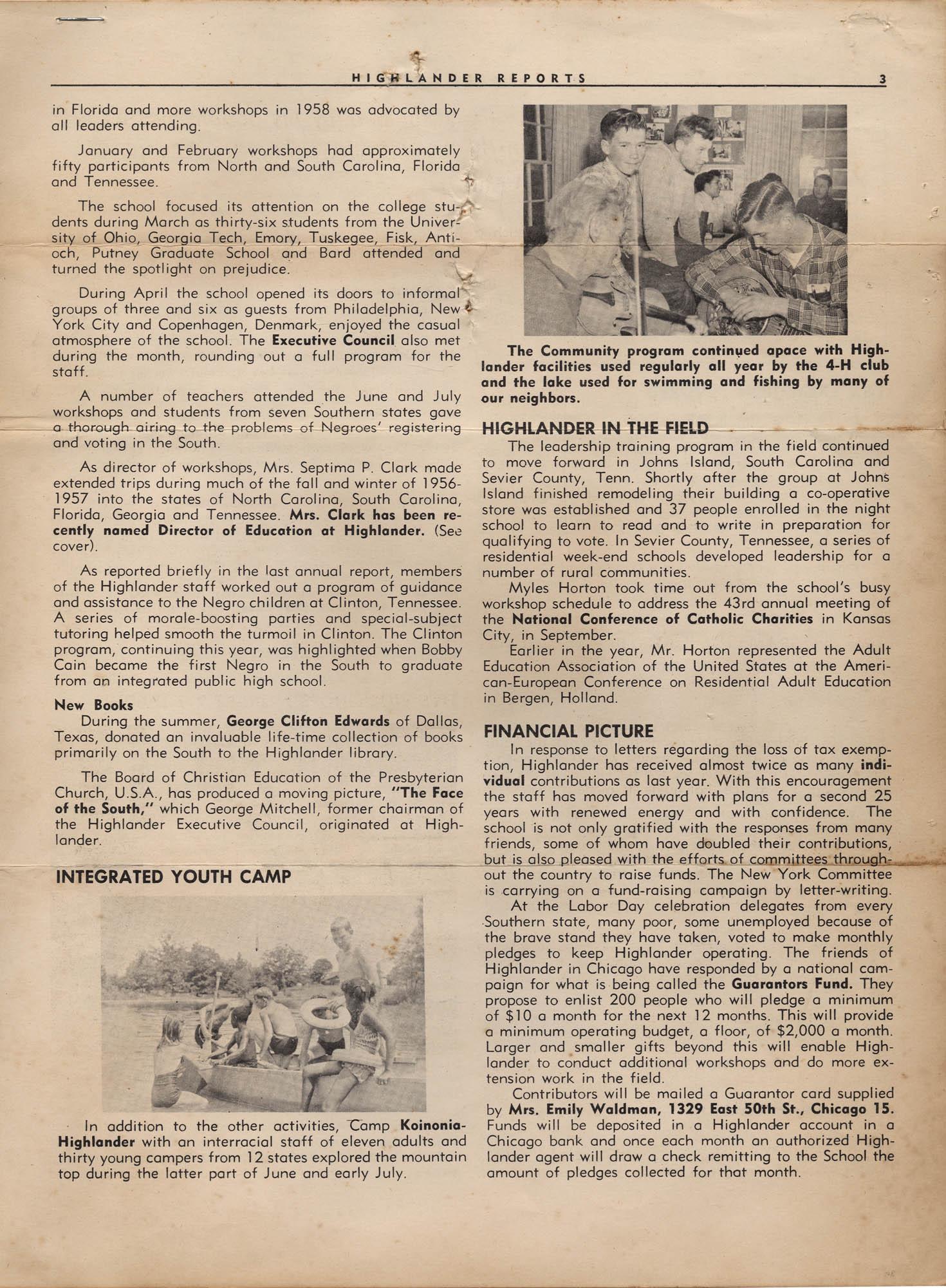 Septima P. Clark Scrapbook, Page 17