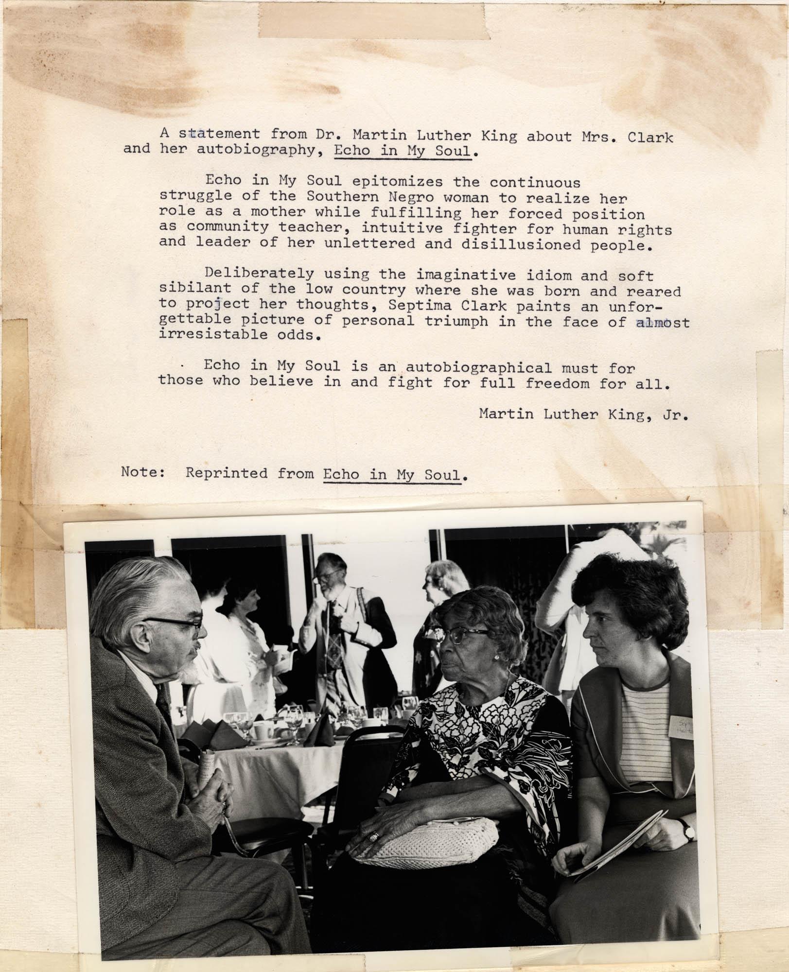 Septima P. Clark Scrapbook, Page 19