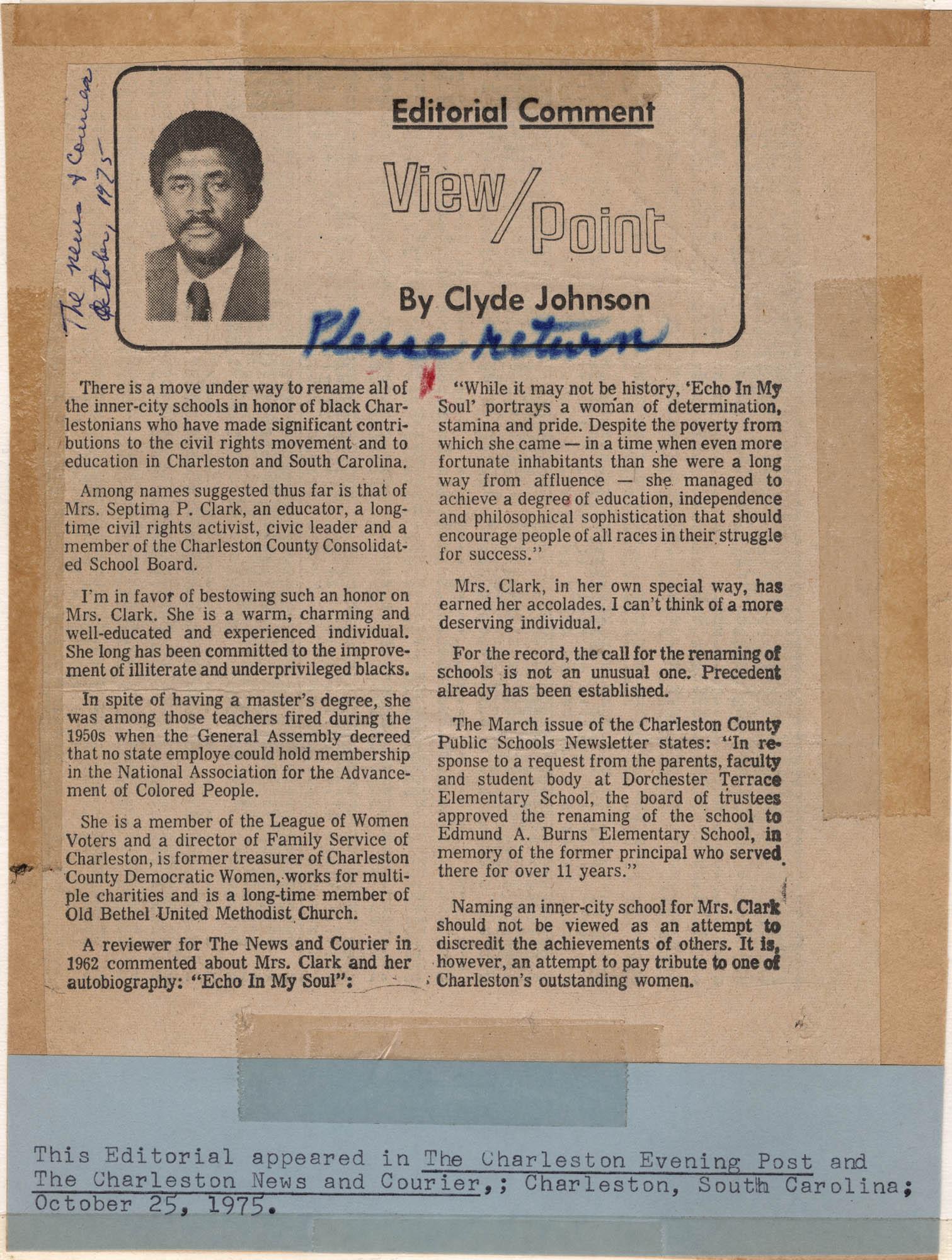 Septima P. Clark Scrapbook, Page 33