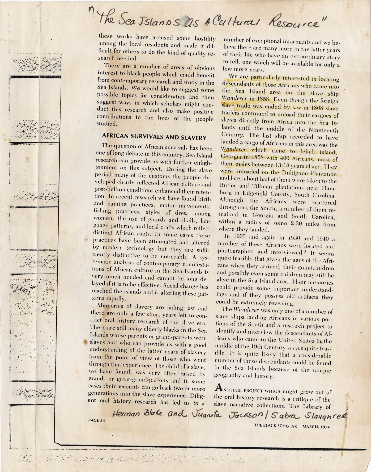 Septima P. Clark Scrapbook, Page 34