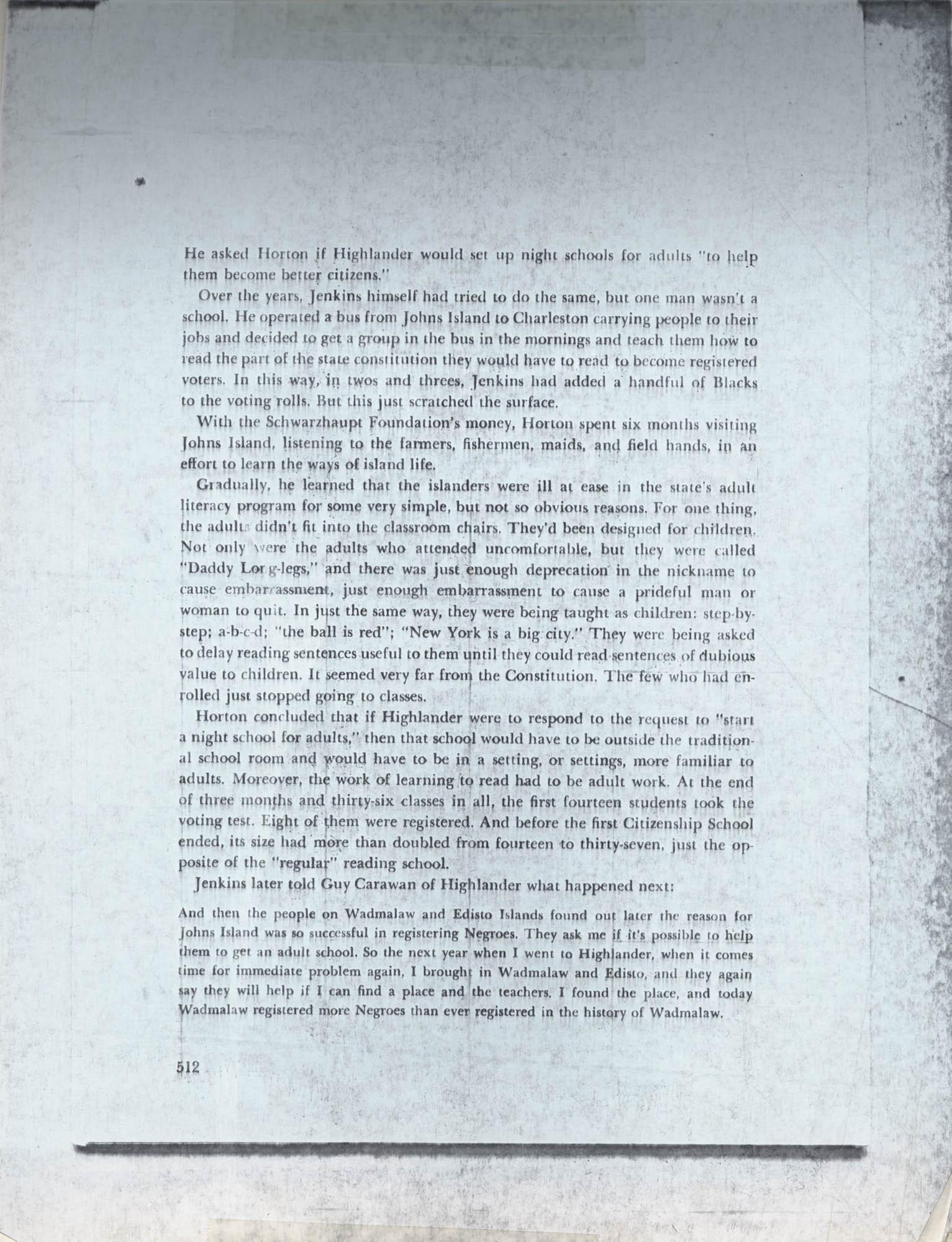 Septima P. Clark Scrapbook, Page 100