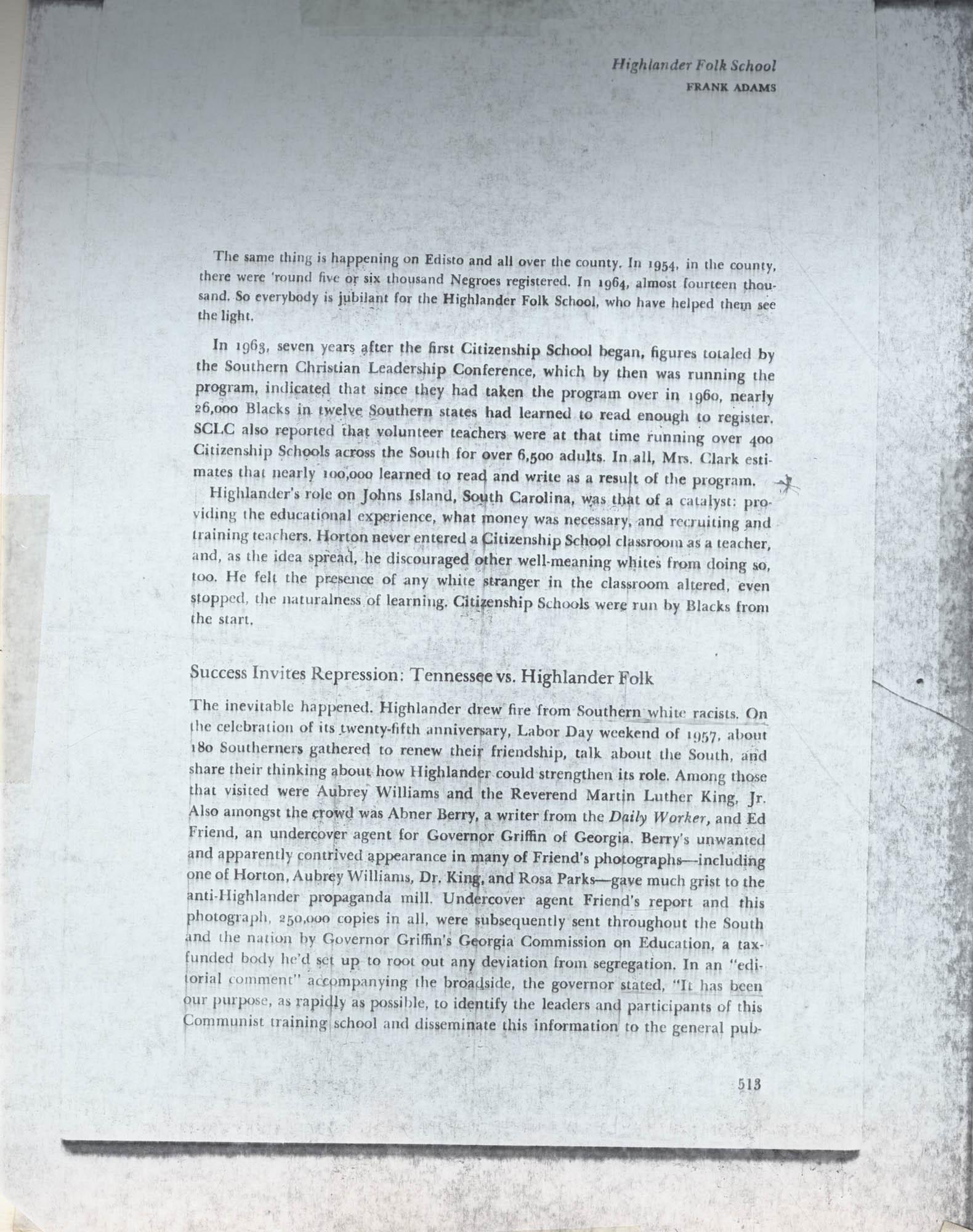 Septima P. Clark Scrapbook, Page 101