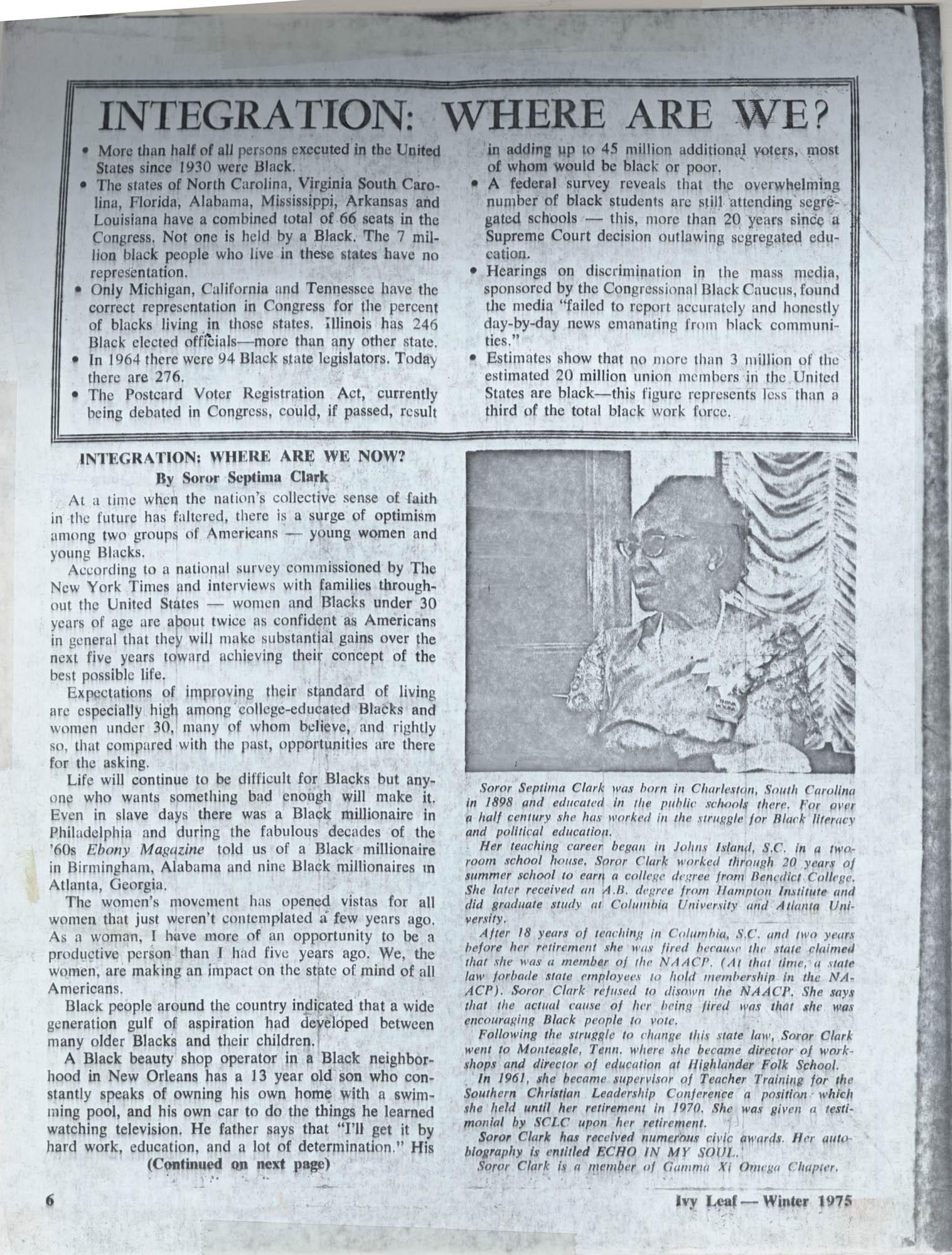 Septima P. Clark Scrapbook, Page 102