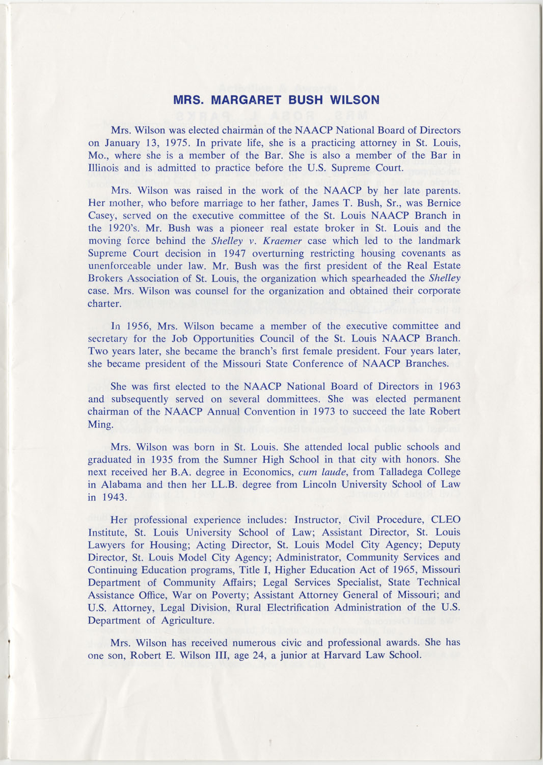 Program to the Utility Club, Inc., Bicentennial Luncheon, Page 2