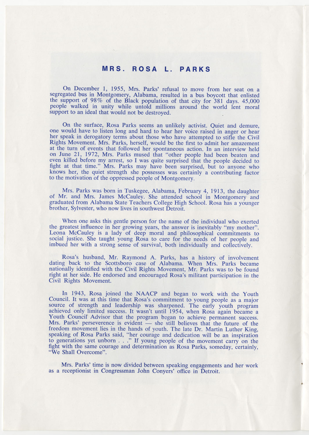Program to the Utility Club, Inc., Bicentennial Luncheon, Page 3