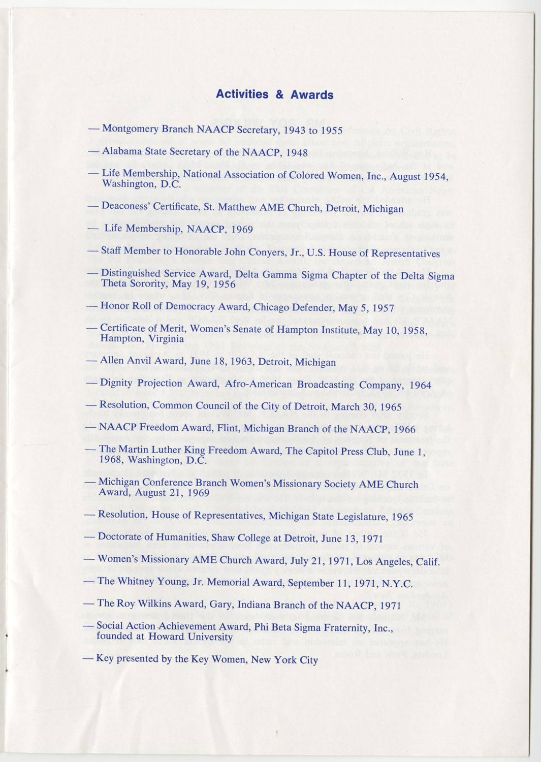 Program to the Utility Club, Inc., Bicentennial Luncheon, Page 4
