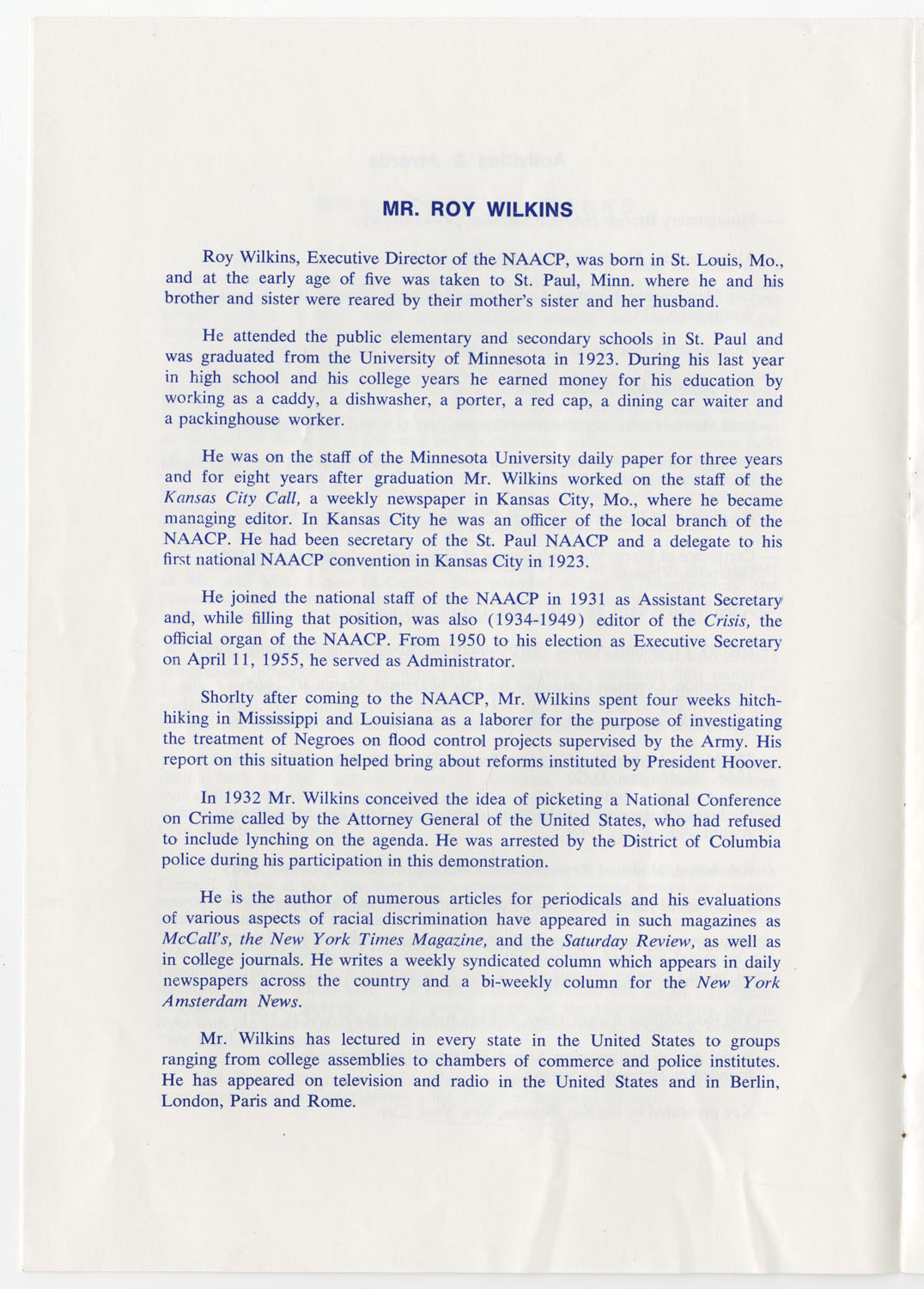 Program to the Utility Club, Inc., Bicentennial Luncheon, Page 5