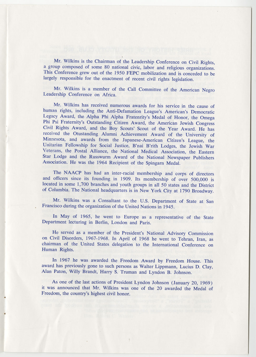Program to the Utility Club, Inc., Bicentennial Luncheon, Page 6
