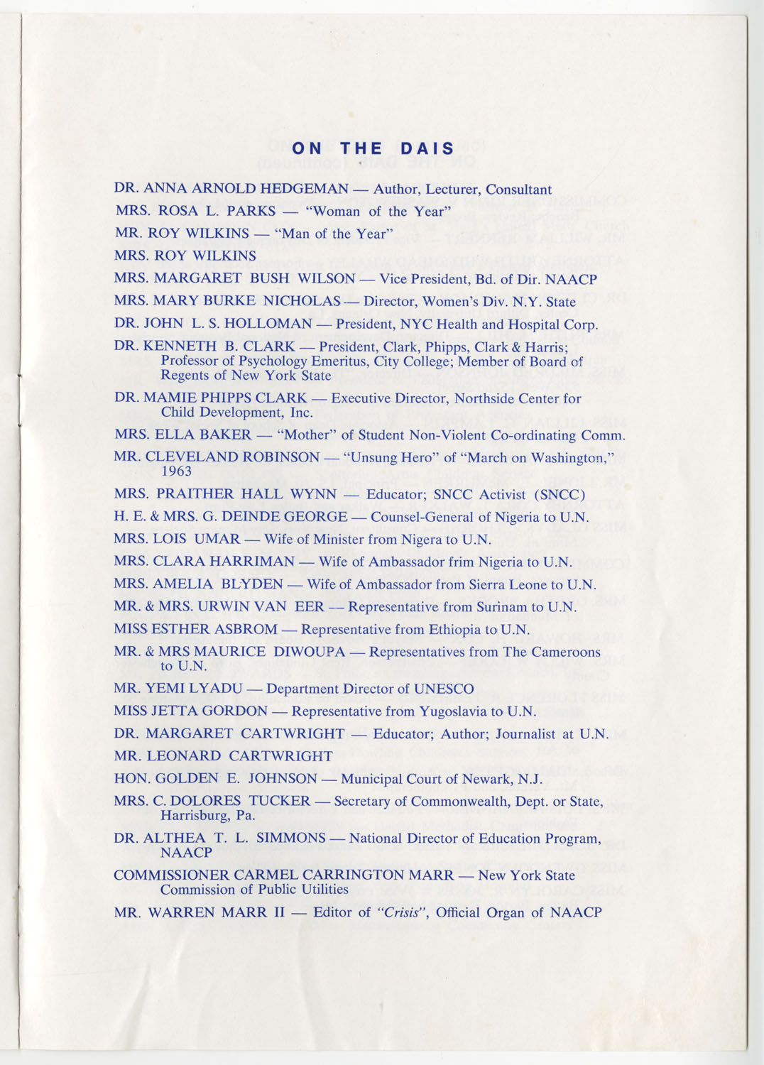 Program to the Utility Club, Inc., Bicentennial Luncheon, Page 12