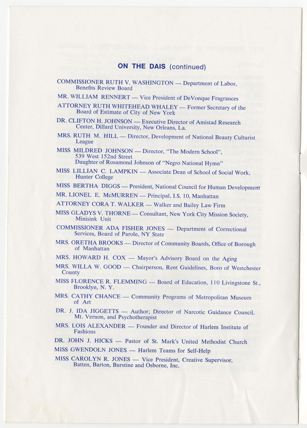 Program to the Utility Club, Inc., Bicentennial Luncheon, Page 13