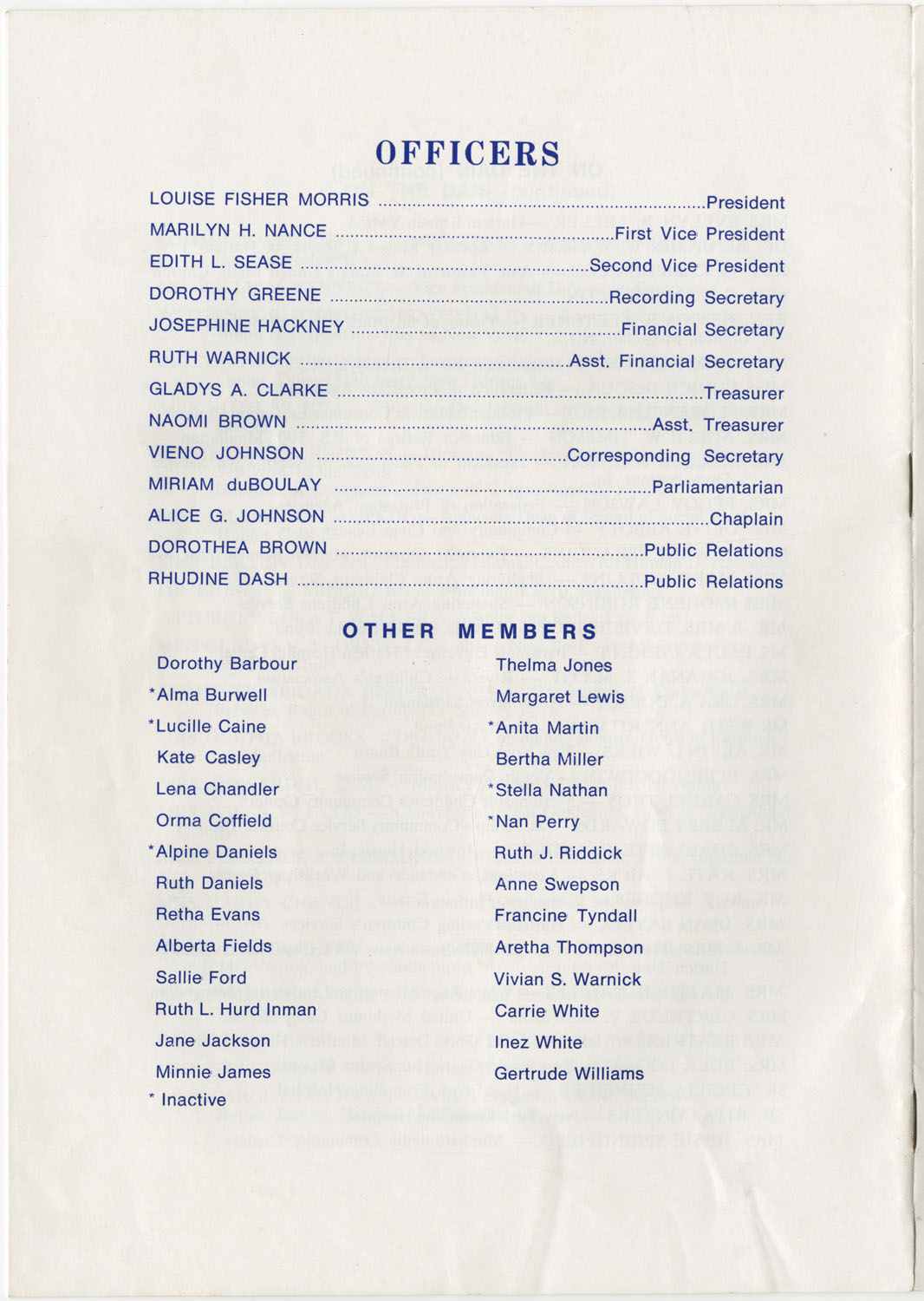Program to the Utility Club, Inc., Bicentennial Luncheon, Page 15
