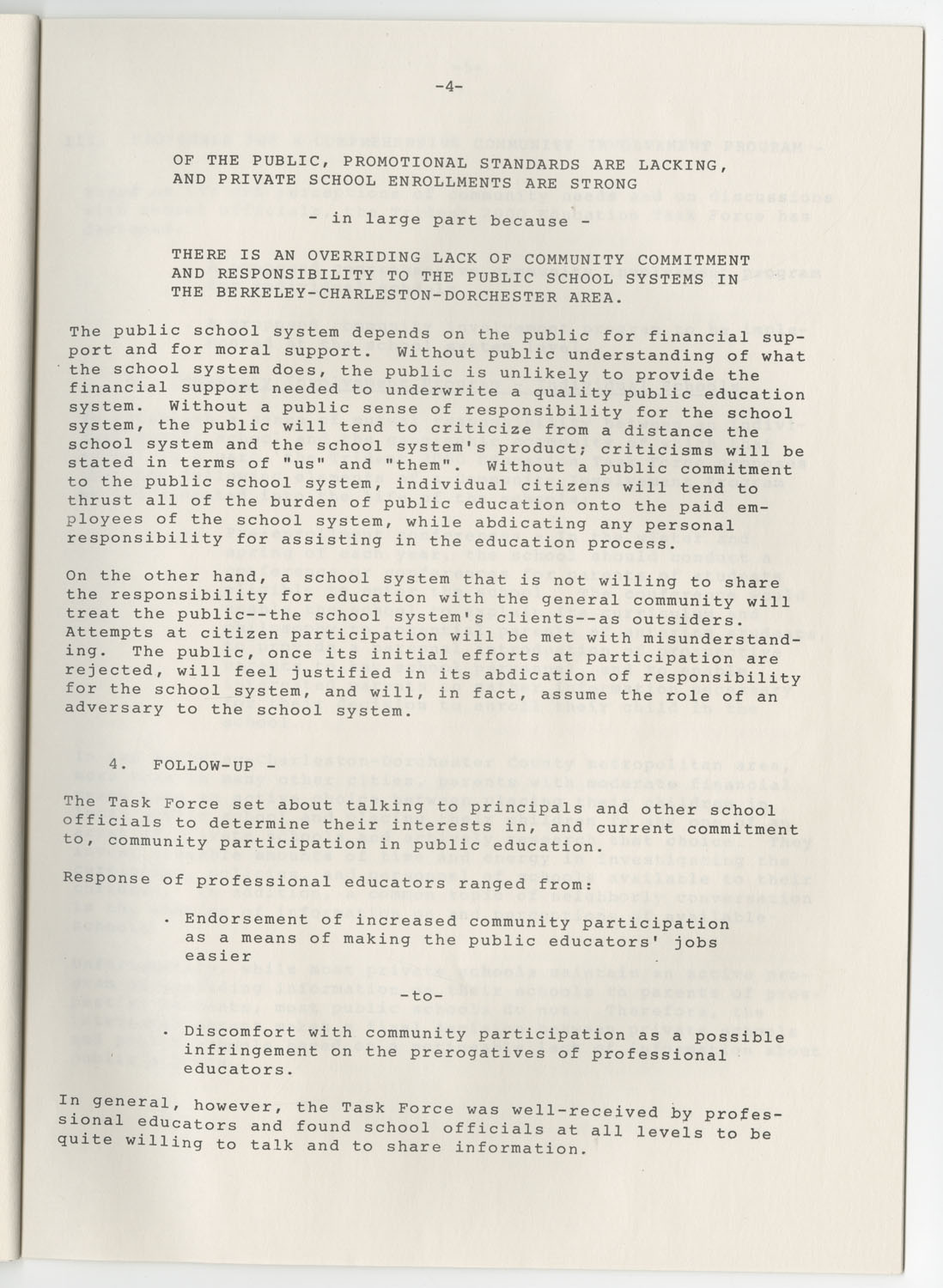 Trident 2000 Task Force Reports on Education, June 1978, Page 4