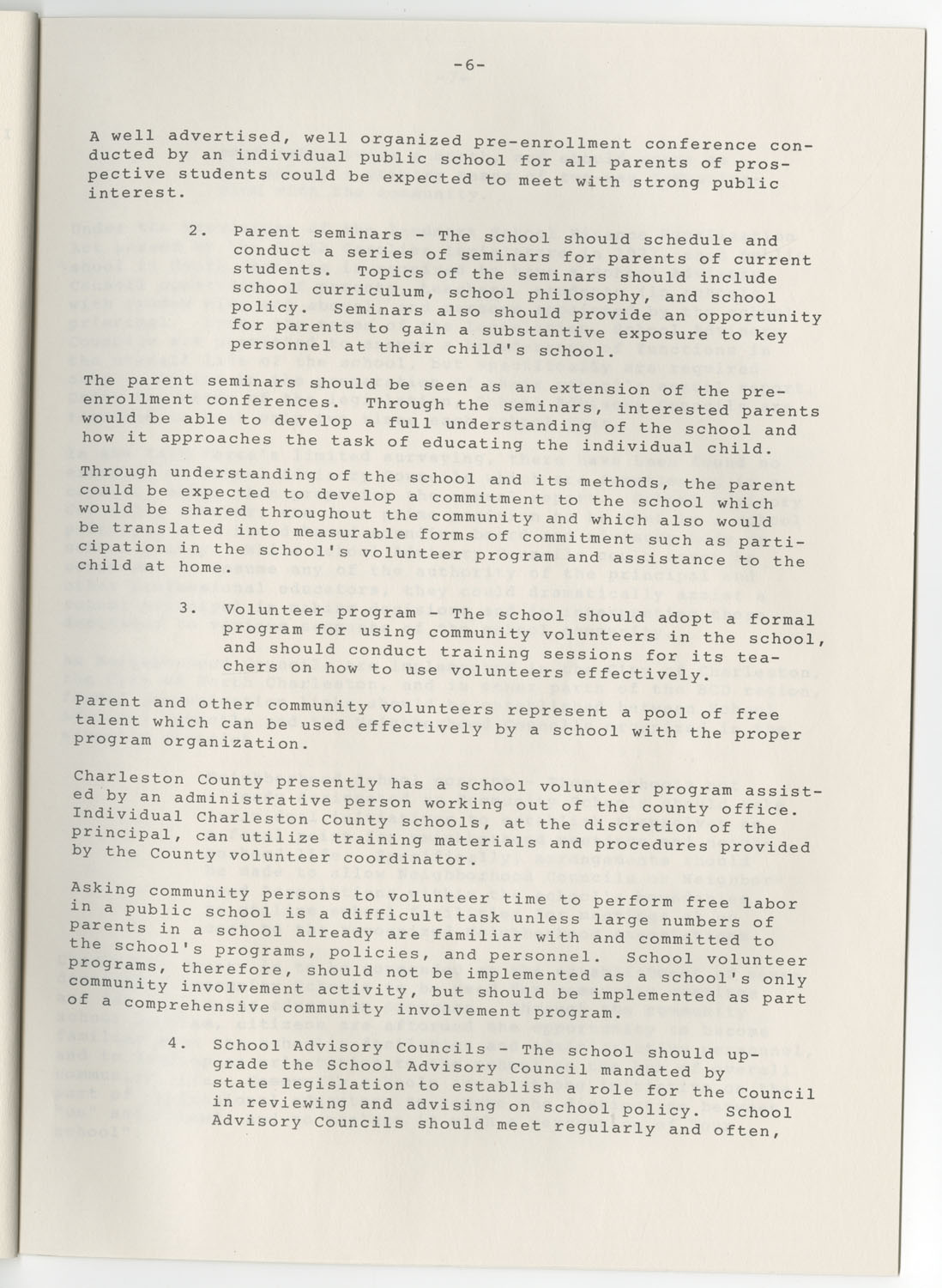 Trident 2000 Task Force Reports on Education, June 1978, Page 6