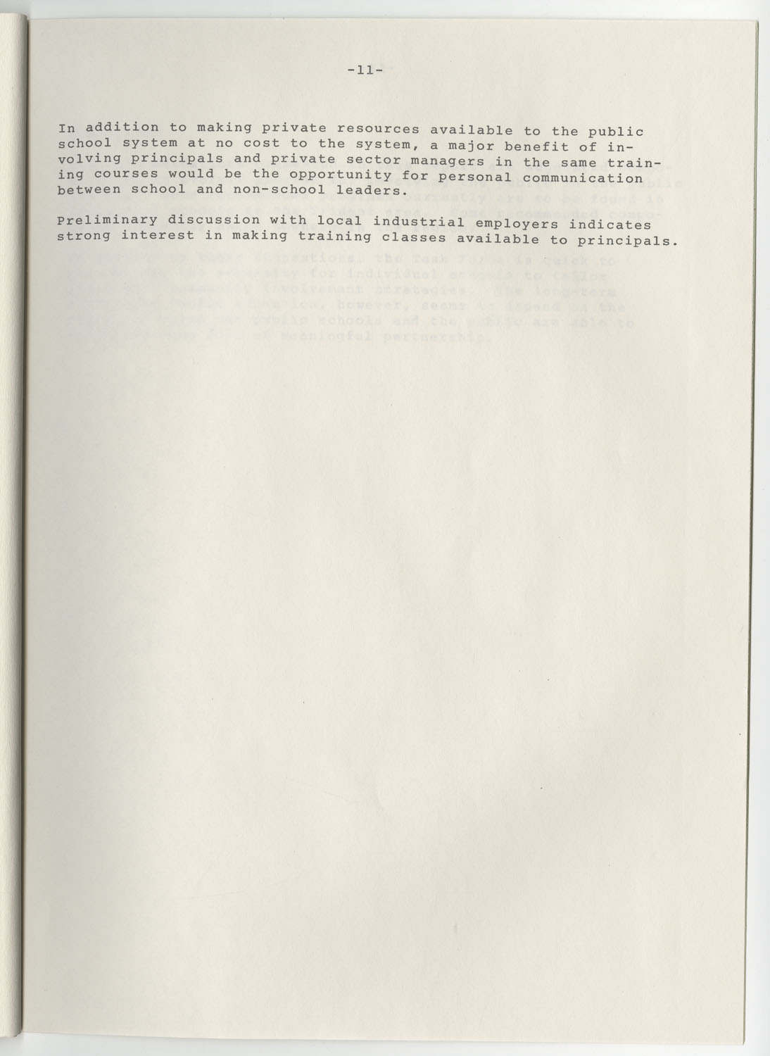 Trident 2000 Task Force Reports on Education, June 1978, Page 11