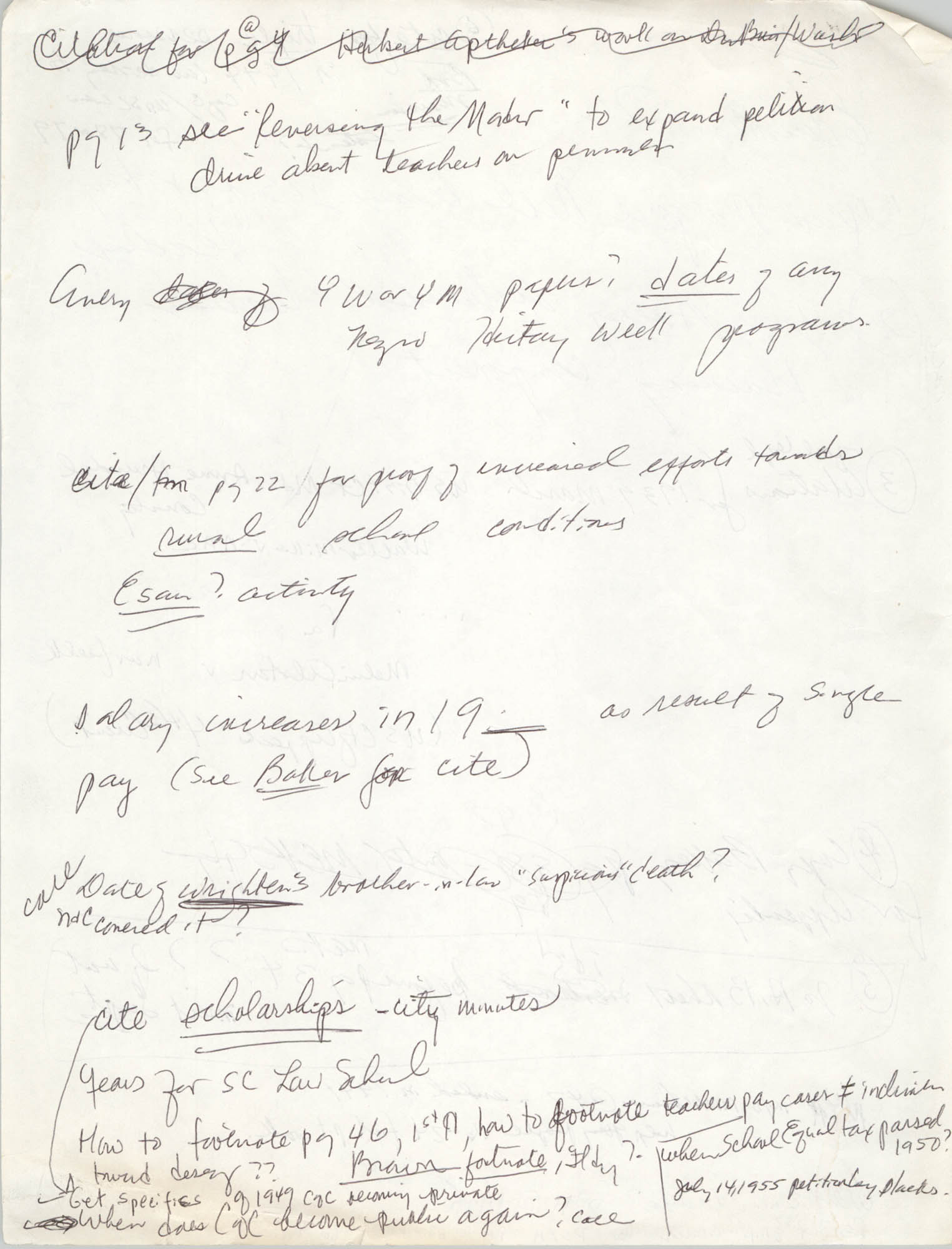 Handwritten Notes, Page 11