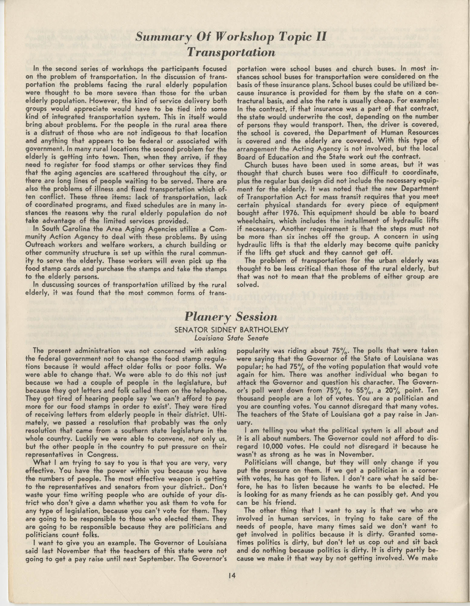 Black Educators Council for Human Services Conference on Aging, March 1975, Page 14