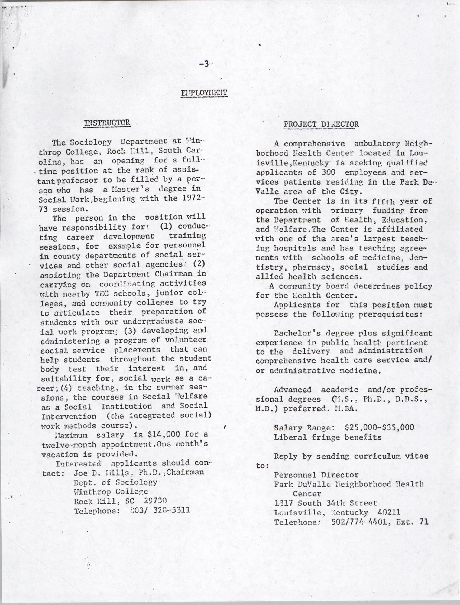 Black Educators Council for Human Services, Volume 1, Number 1, Page 3