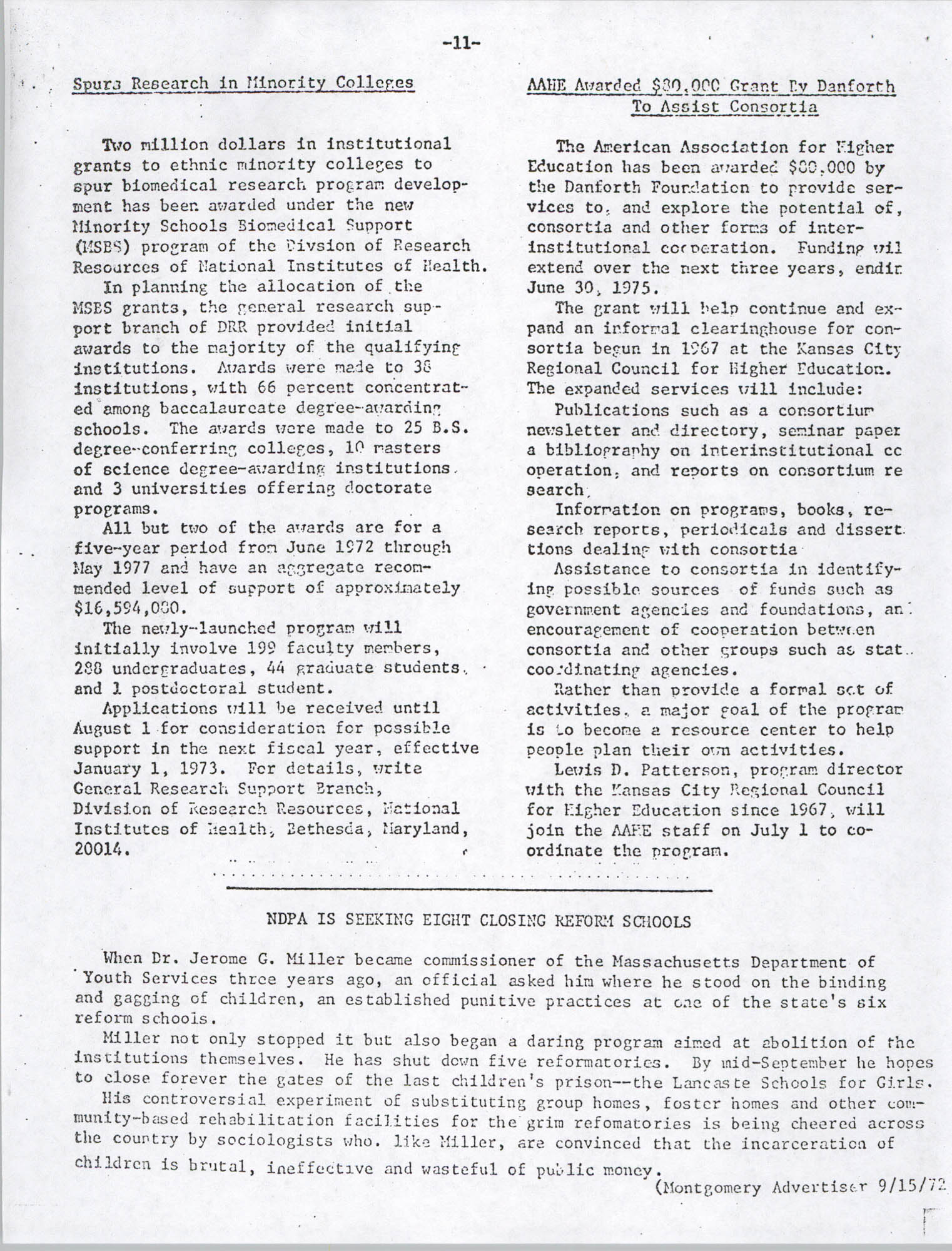 Black Educators Council for Human Services, Volume 1, Number 1, Page 11