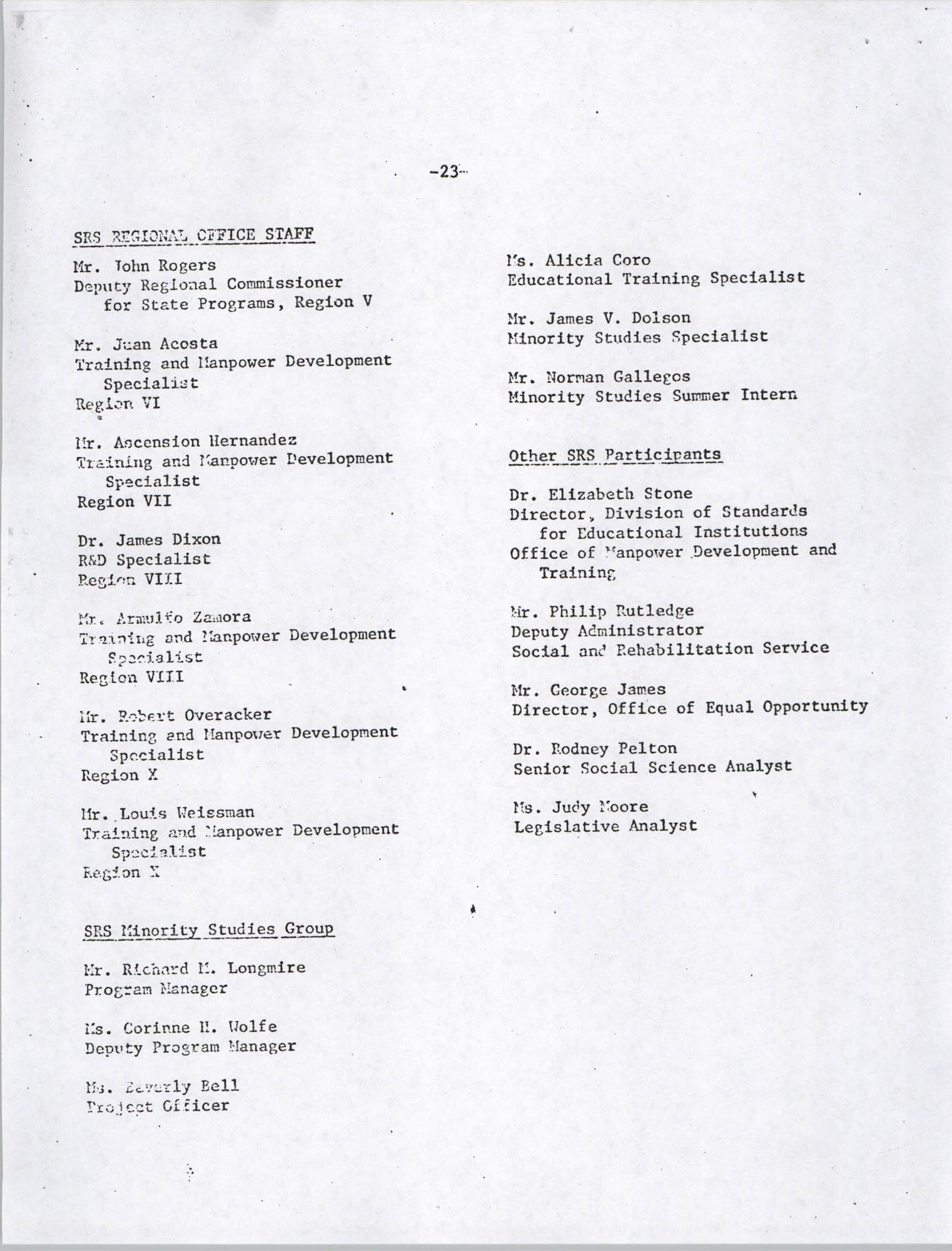 Black Educators Council for Human Services, Volume 1, Number 1, Page 23