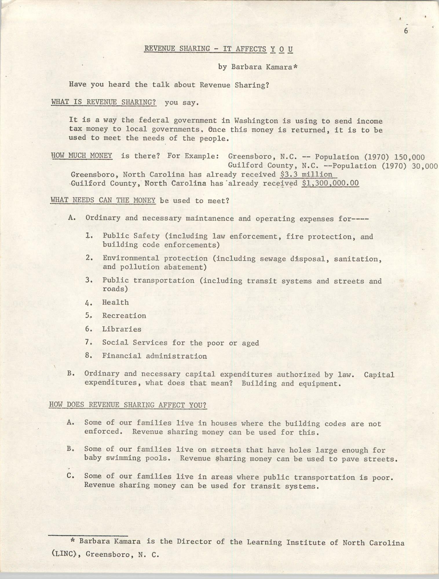 SHARE, Volume I, Number 8, April 1973, Page 6