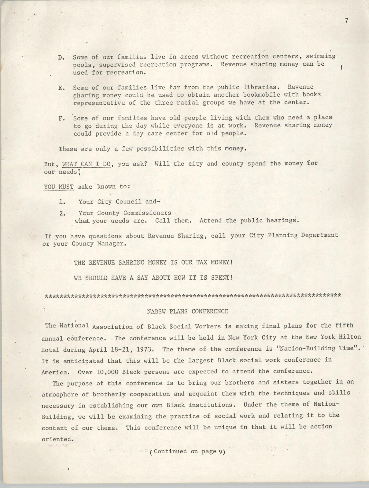 SHARE, Volume I, Number 8, April 1973, Page 7