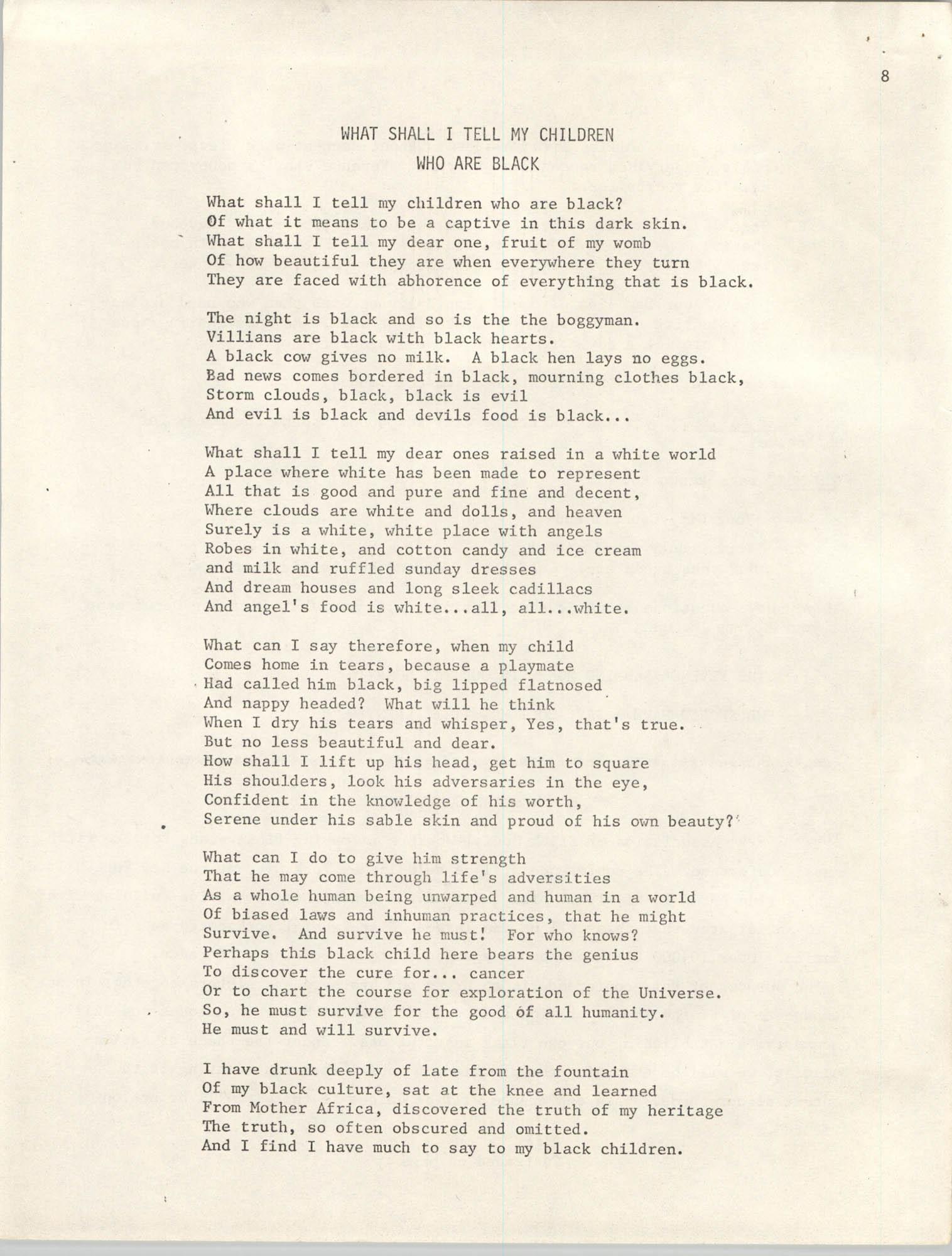SHARE, Volume I, Number 8, April 1973, Page 8