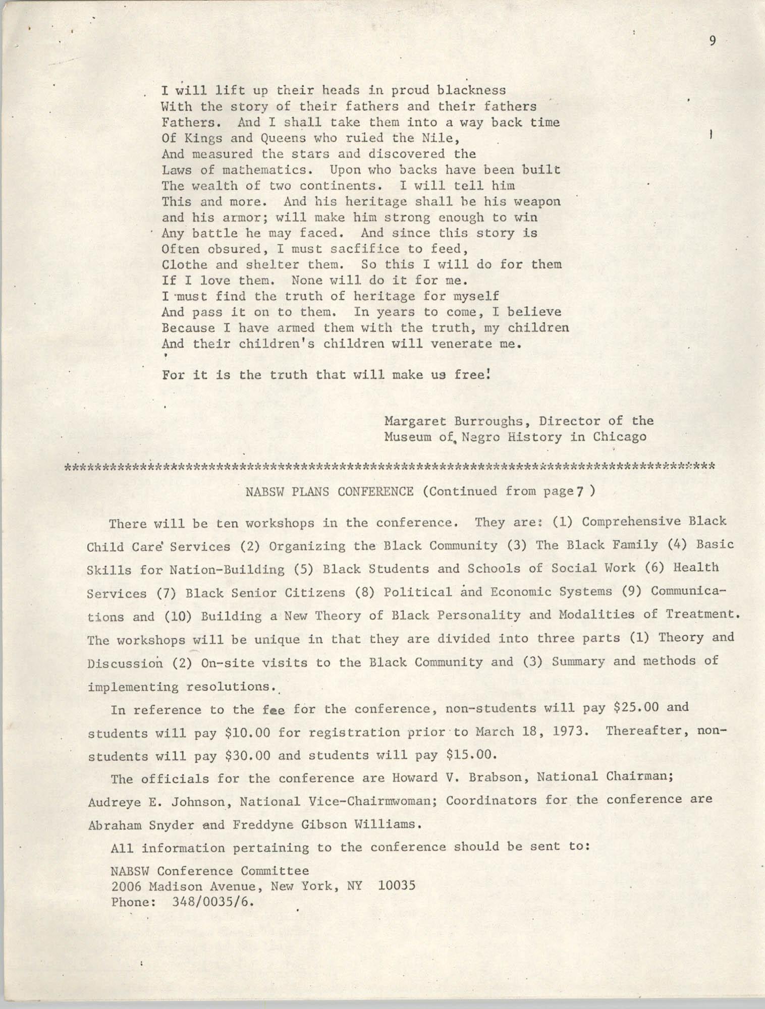SHARE, Volume I, Number 8, April 1973, Page 9