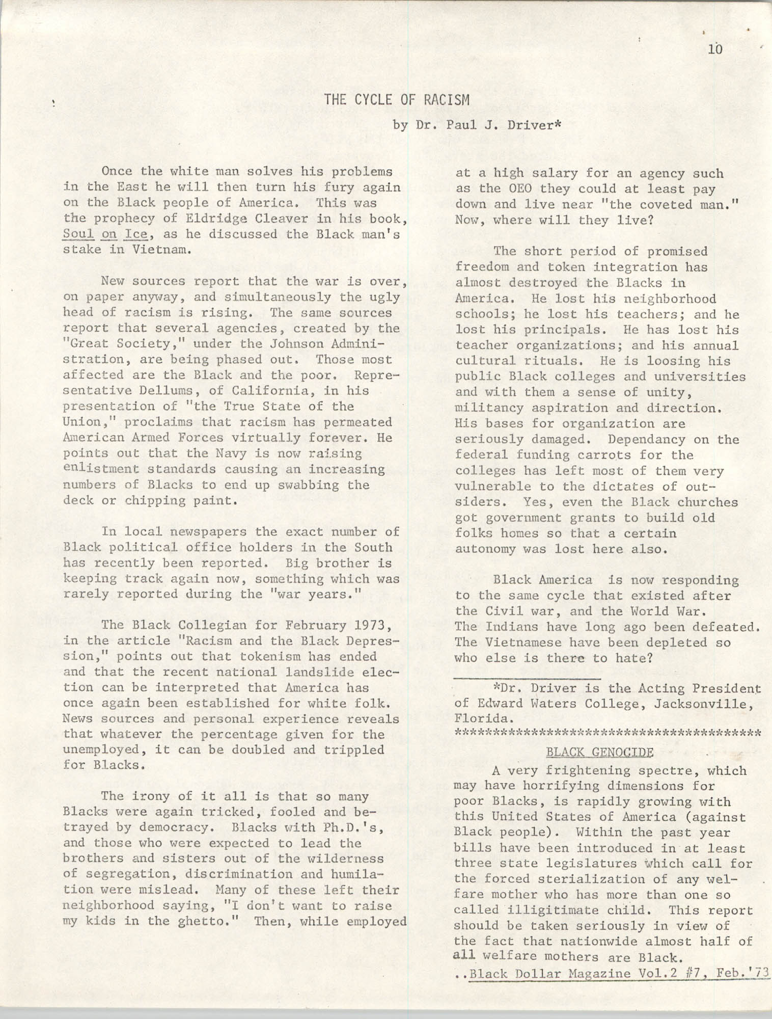 SHARE, Volume I, Number 8, April 1973, Page 10