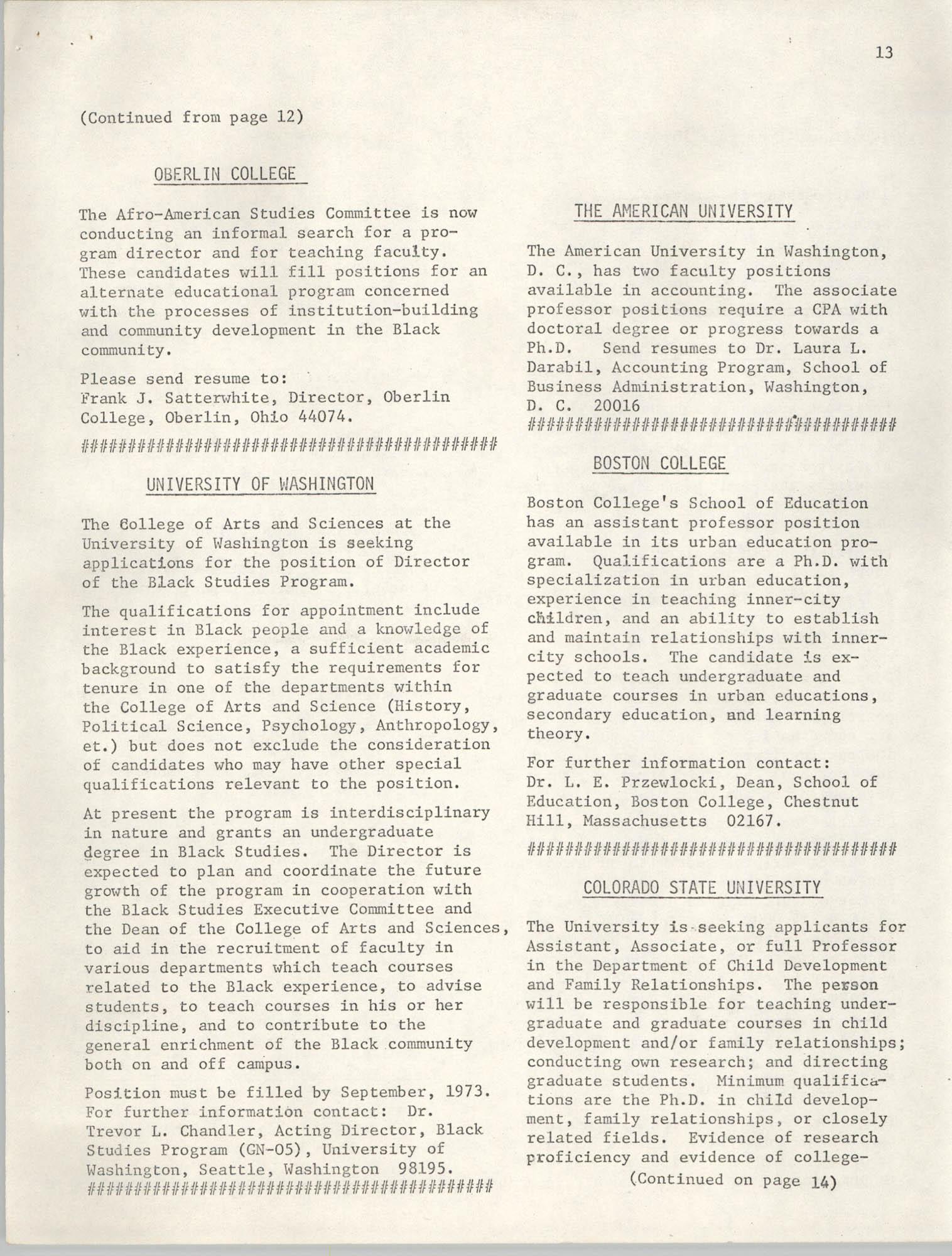 SHARE, Volume I, Number 8, April 1973, Page 13