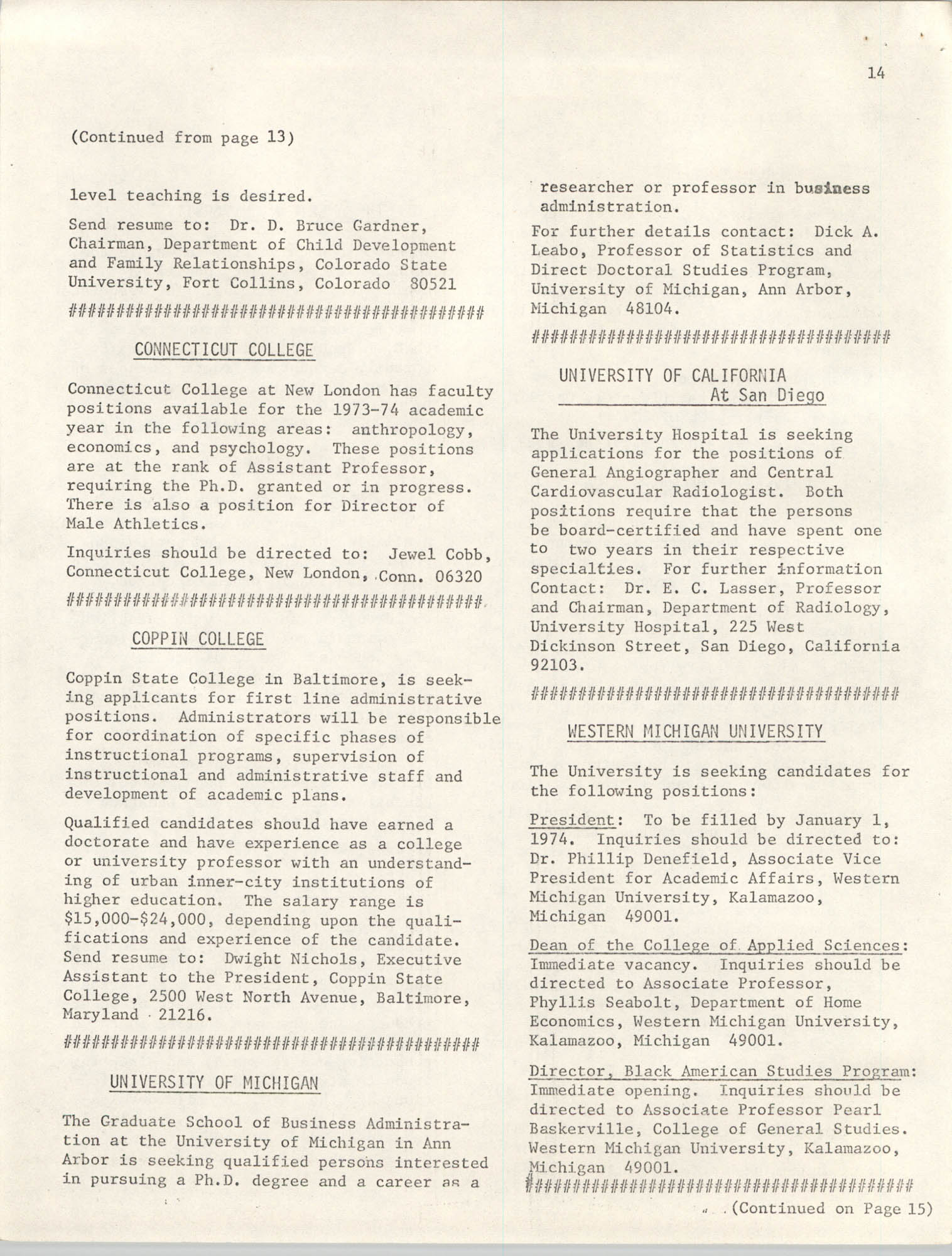 SHARE, Volume I, Number 8, April 1973, Page 14