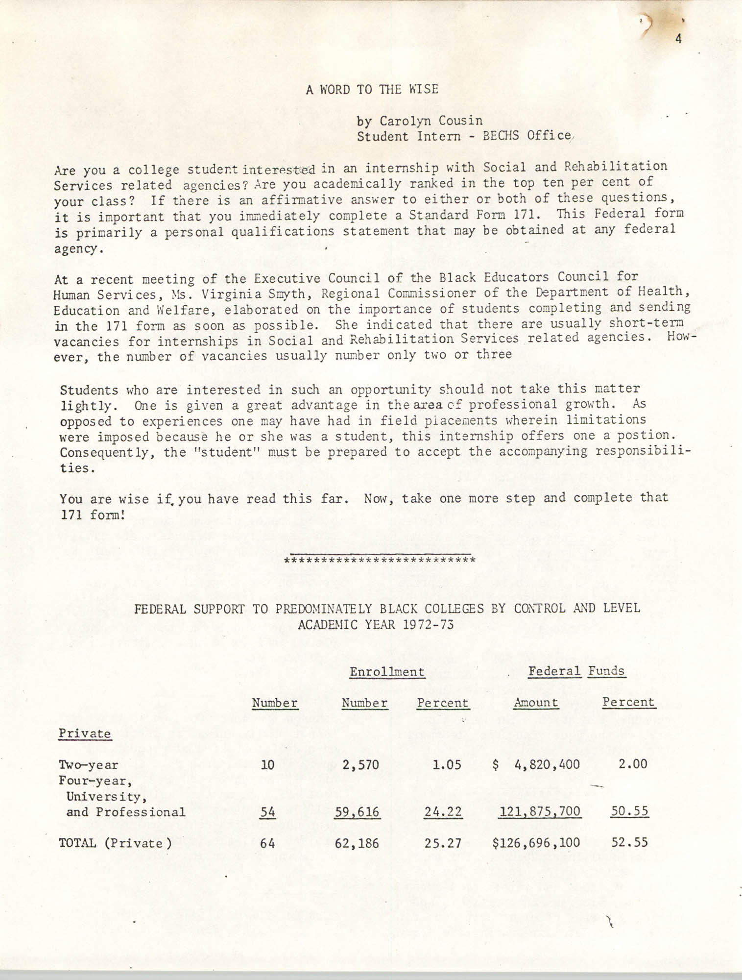 SHARE, Volume II, Number 3, March 1974, Page 4