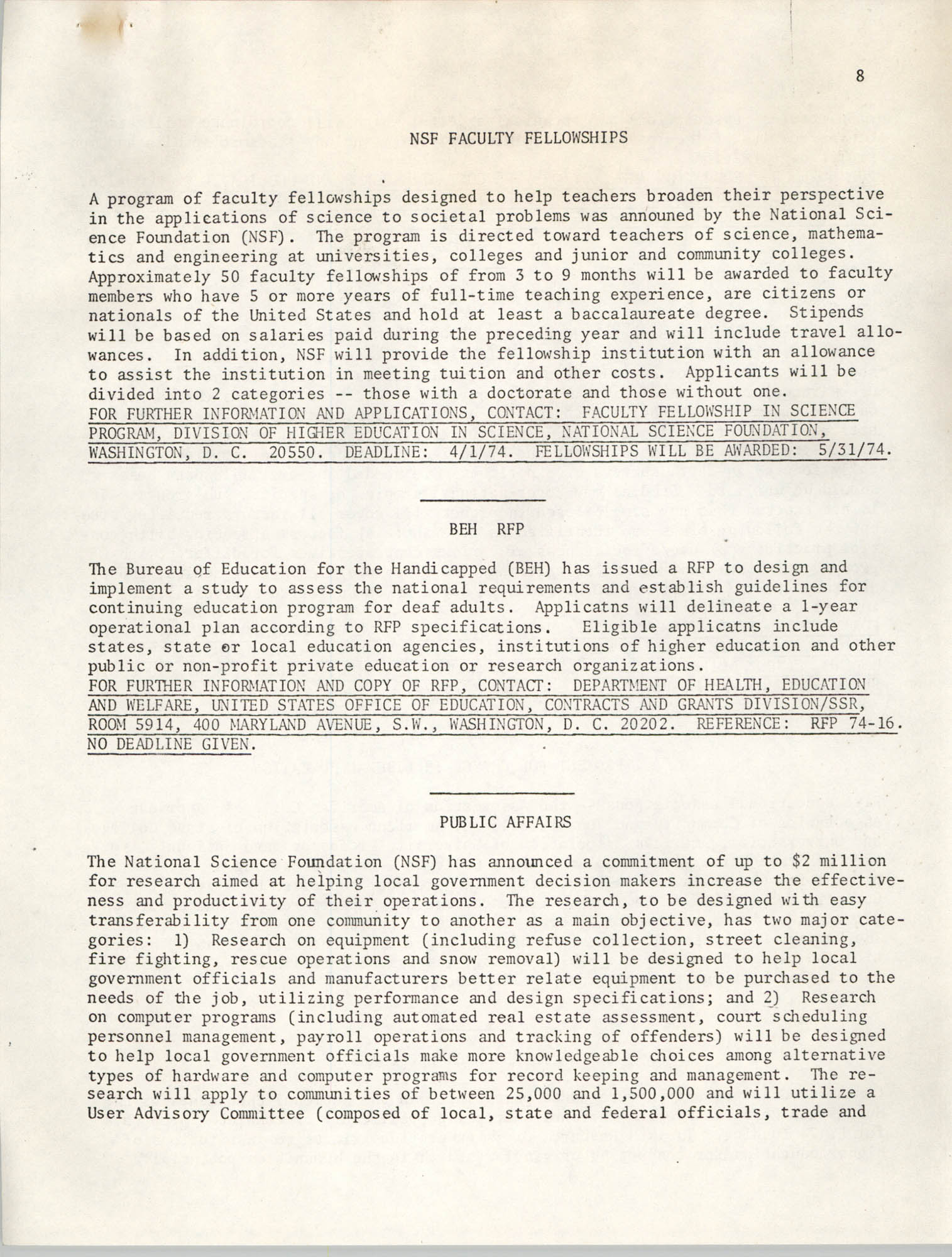 SHARE, Volume II, Number 3, March 1974, Page 8